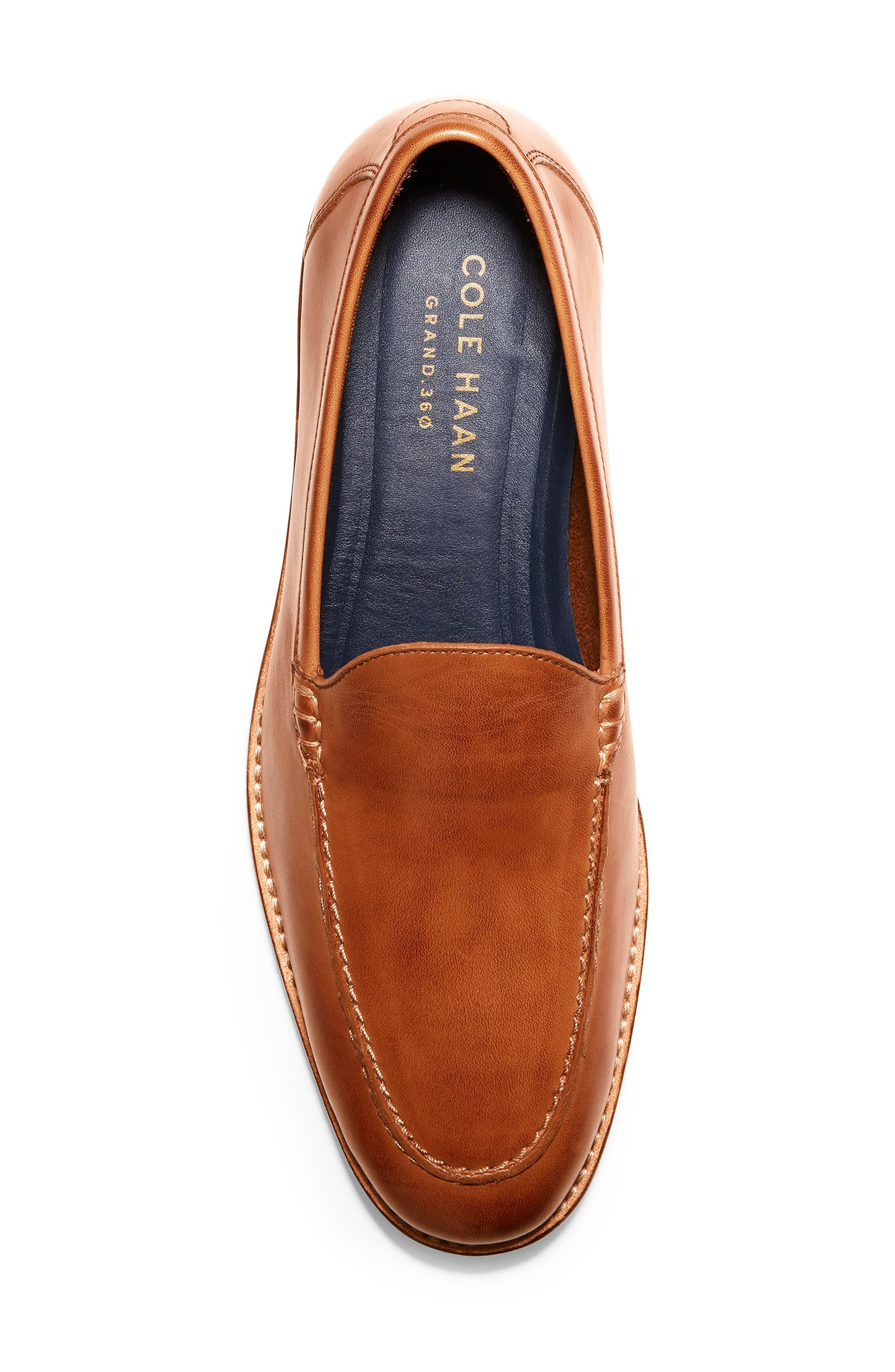 COLE HAAN, Feathercraft Grand Venetian Loafer, Alternate thumbnail 5, color, BRITISH TAN LEATHER