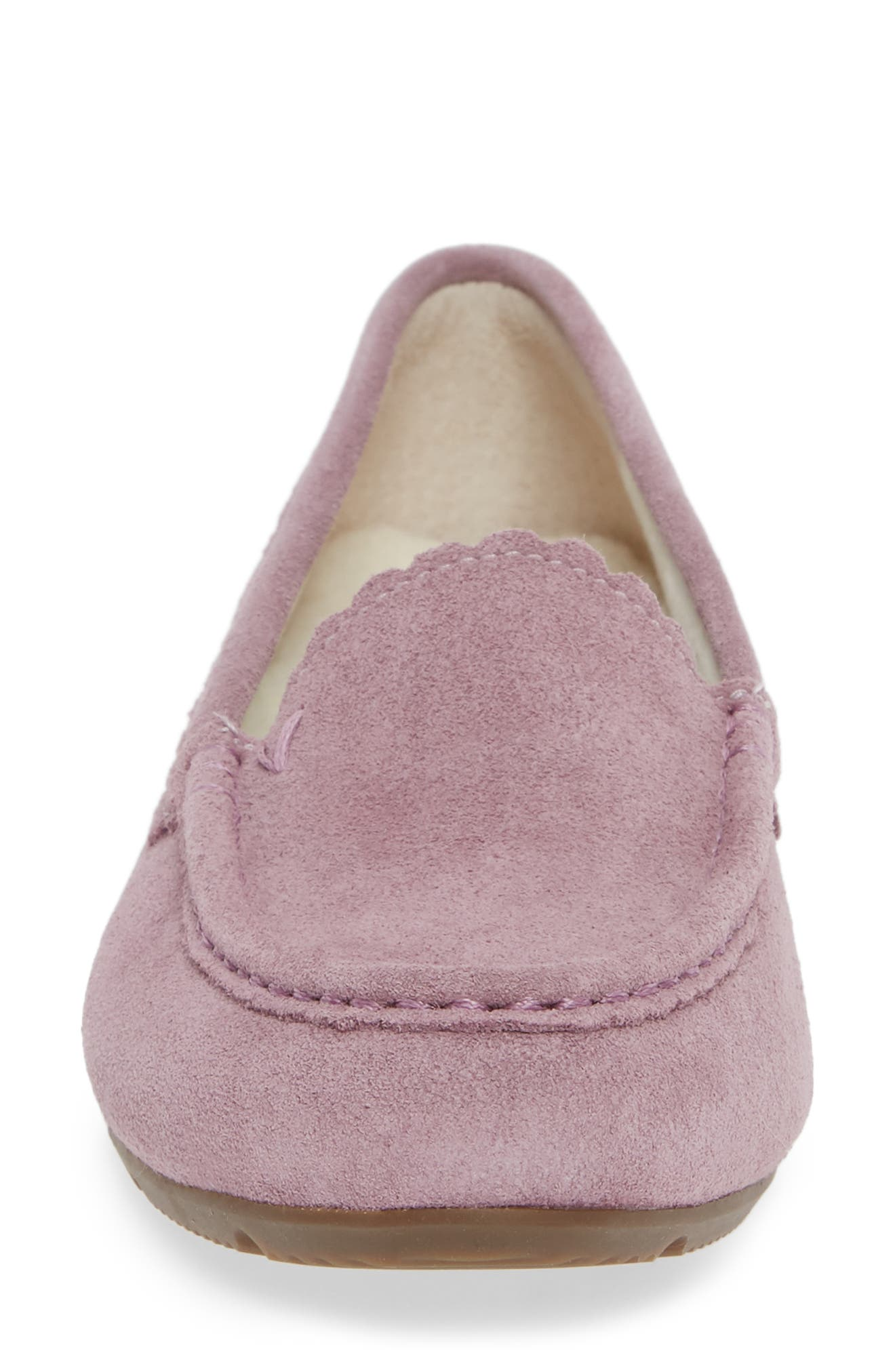 VIONIC, McKenzie Moccasin, Alternate thumbnail 4, color, MAUVE SUEDE