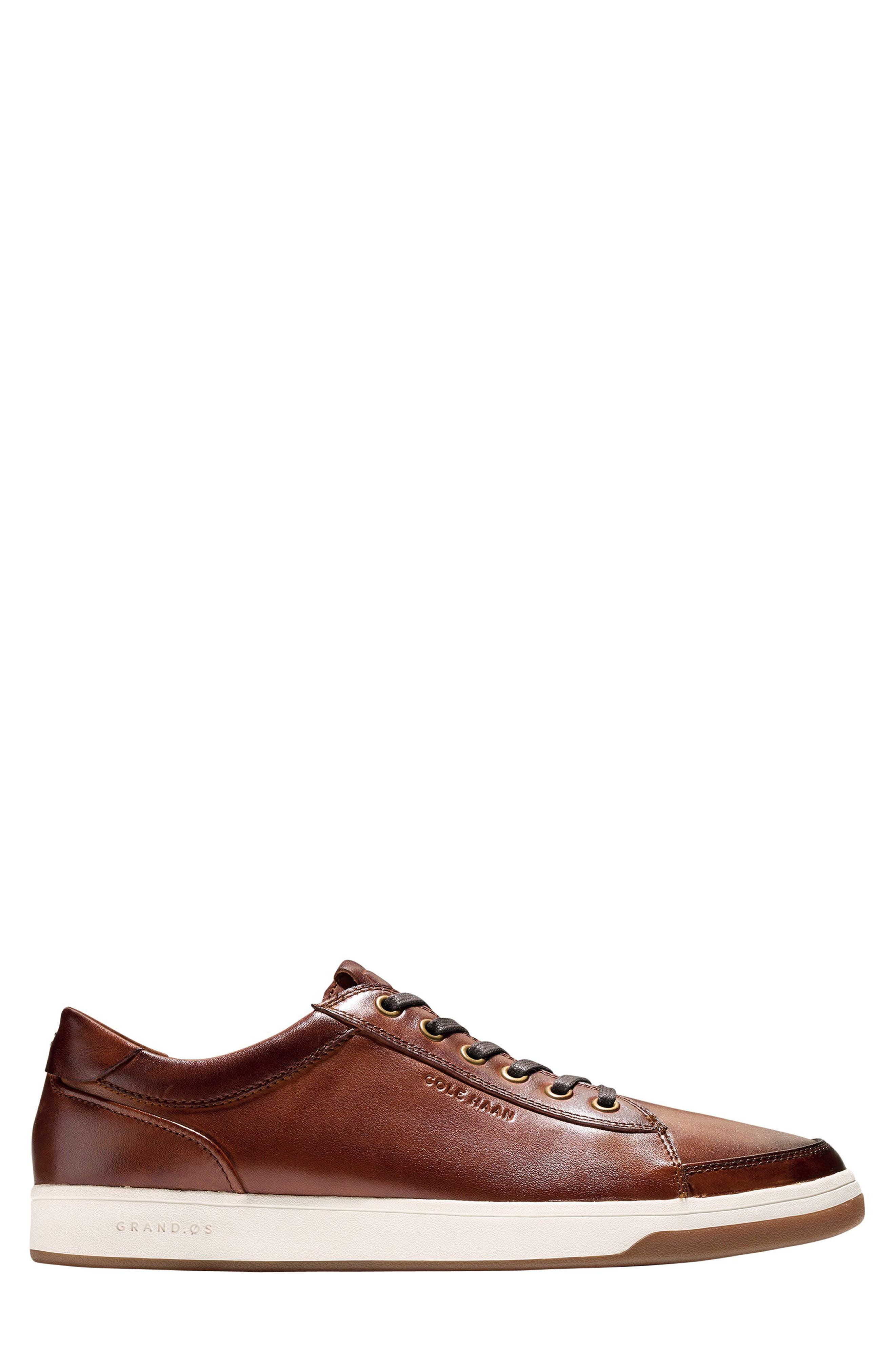 COLE HAAN, GrandPro Spectator Sneaker, Alternate thumbnail 3, color, WOODBURY LEATHER
