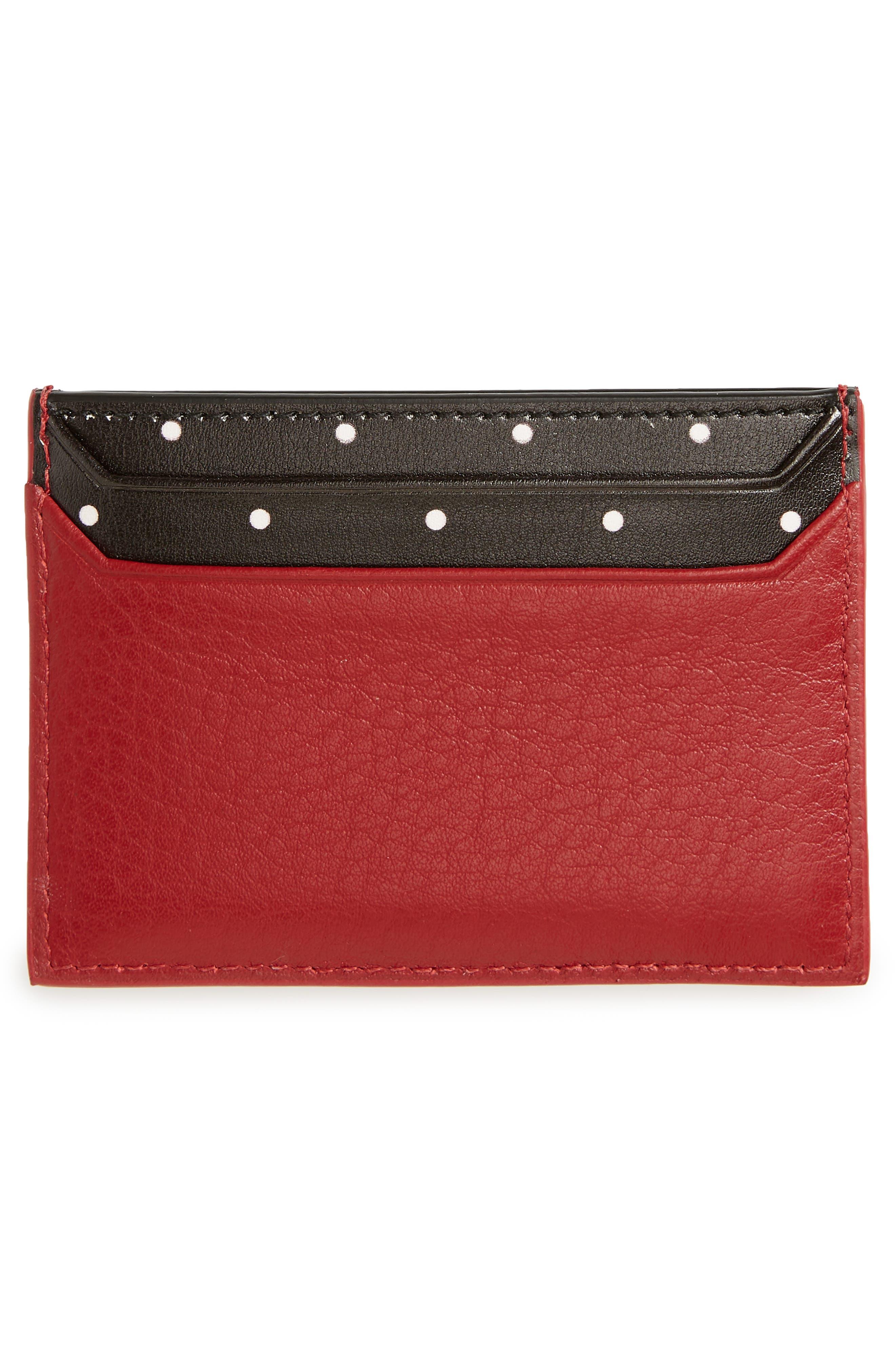 KATE SPADE NEW YORK, blake street - dot lynleigh leather card case, Alternate thumbnail 2, color, 600