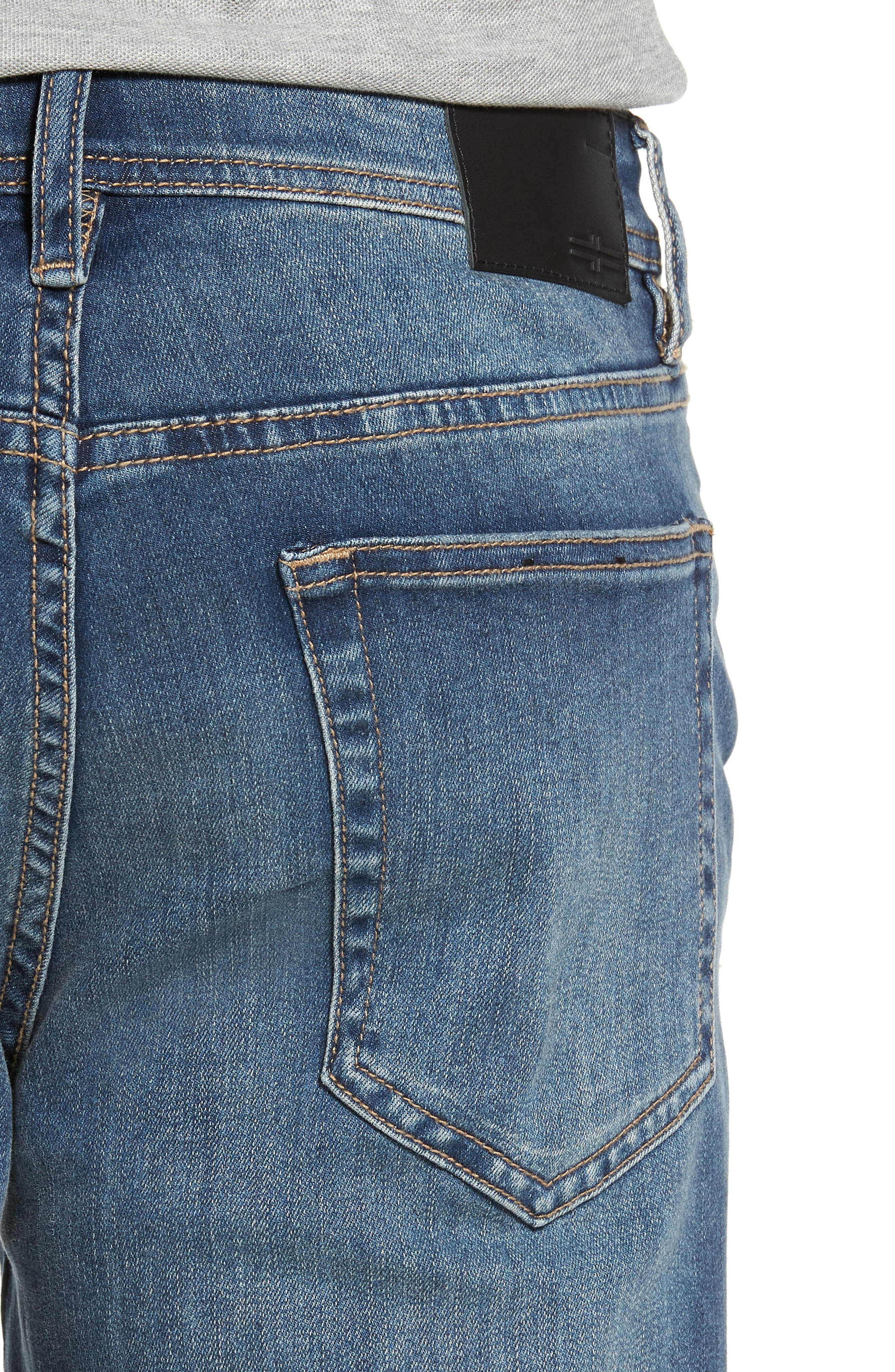 LIVERPOOL, Regent Relaxed Straight Leg Jeans, Alternate thumbnail 4, color, CHATSWORTH