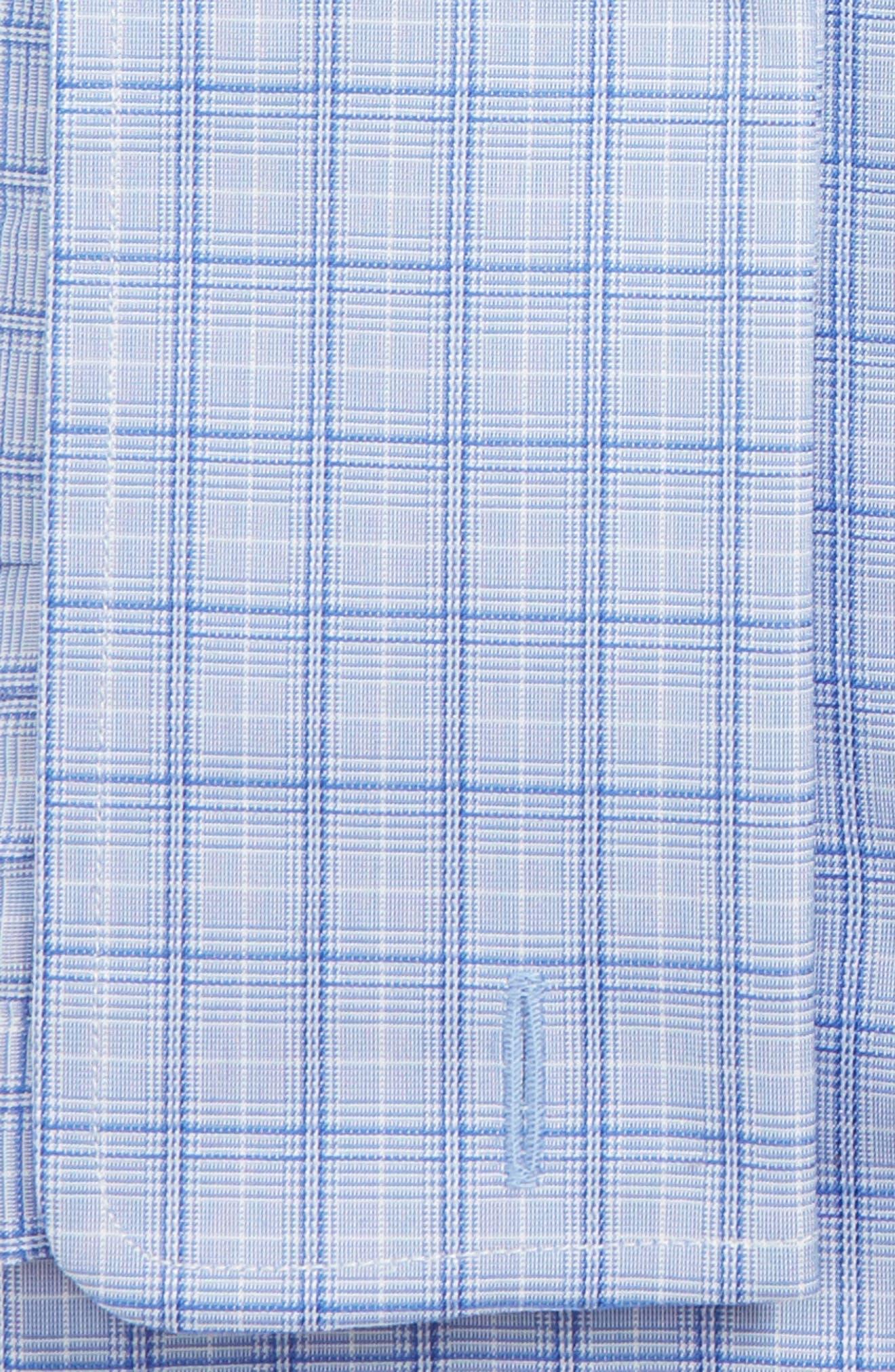 DAVID DONAHUE, Regular Fit Plaid Dress Shirt, Alternate thumbnail 2, color, BLUE/ NAVY