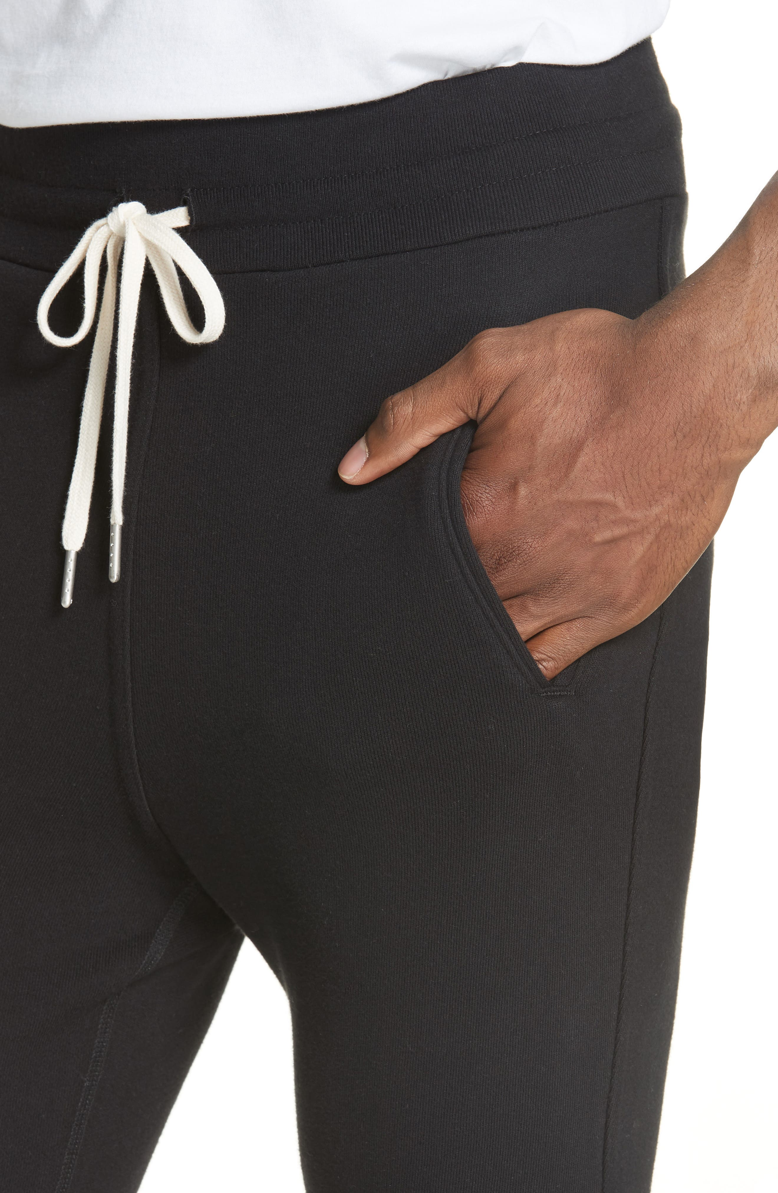JOHN ELLIOTT, Escobar Sweatpants, Alternate thumbnail 4, color, BLACK