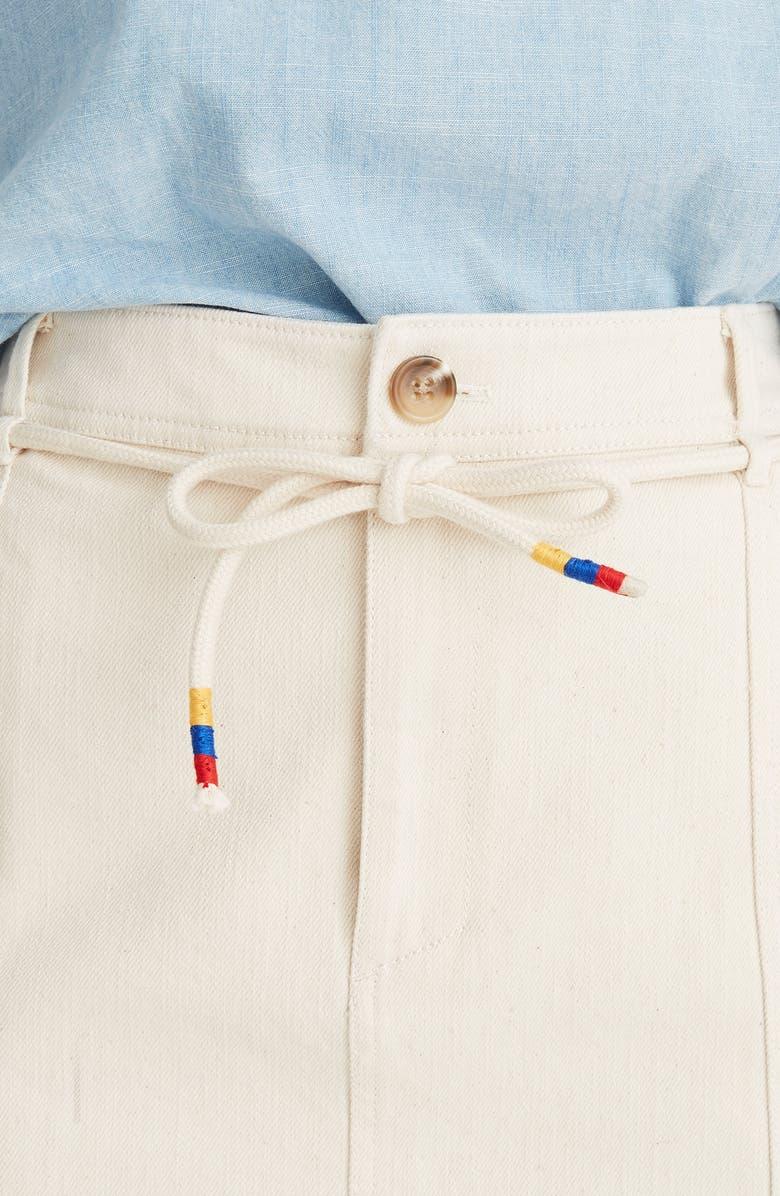 a17373fc92 Madewell Capital A-Line Miniskirt In Cloud Lining | ModeSens