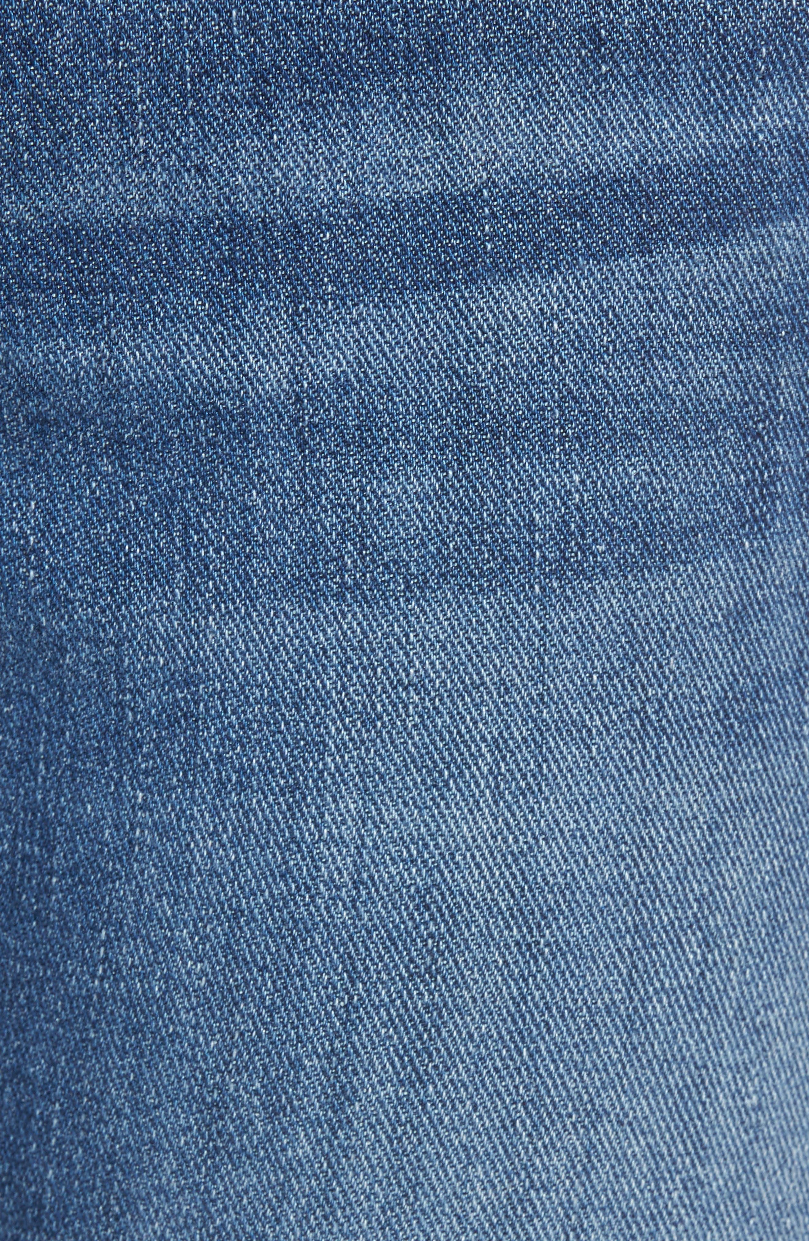 7 FOR ALL MANKIND<SUP>®</SUP>, Ali Split Hem Crop Flare Jeans, Alternate thumbnail 5, color, 401