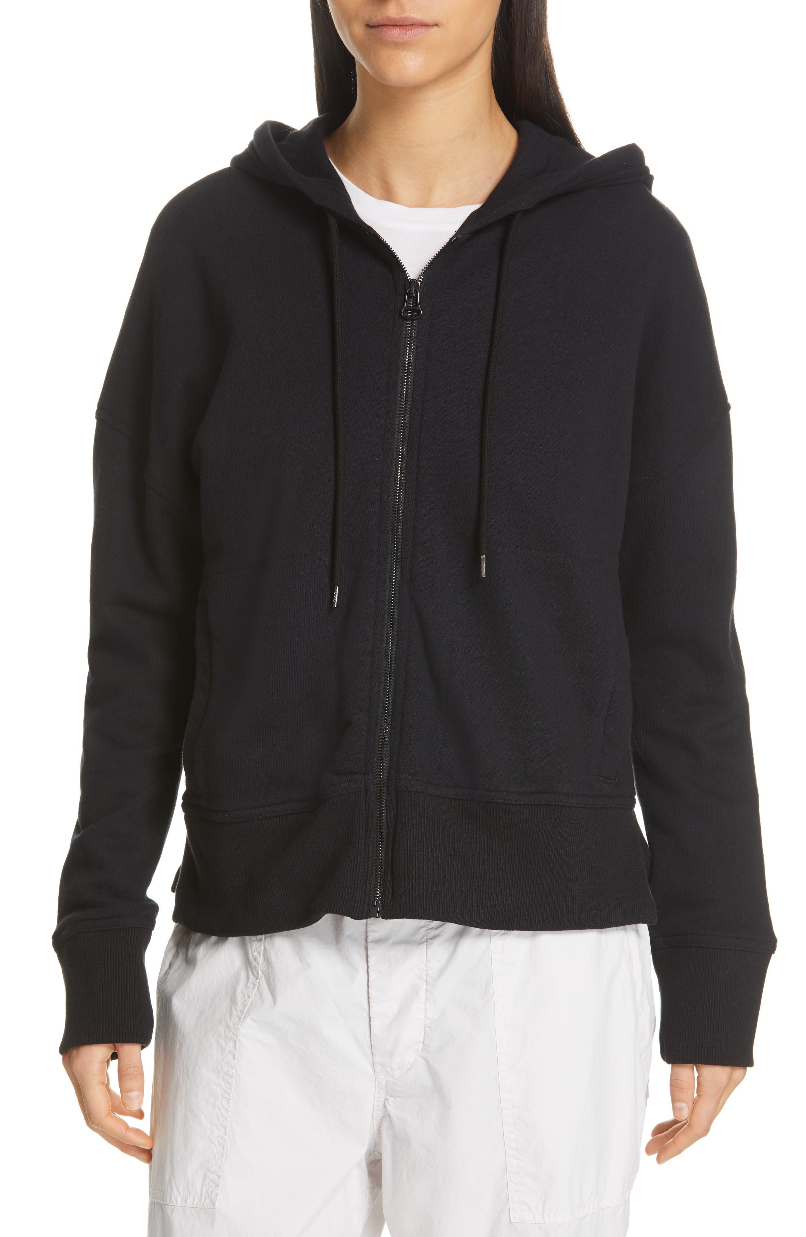 JAMES PERSE Side Zip Hoodie, Main, color, BLACK