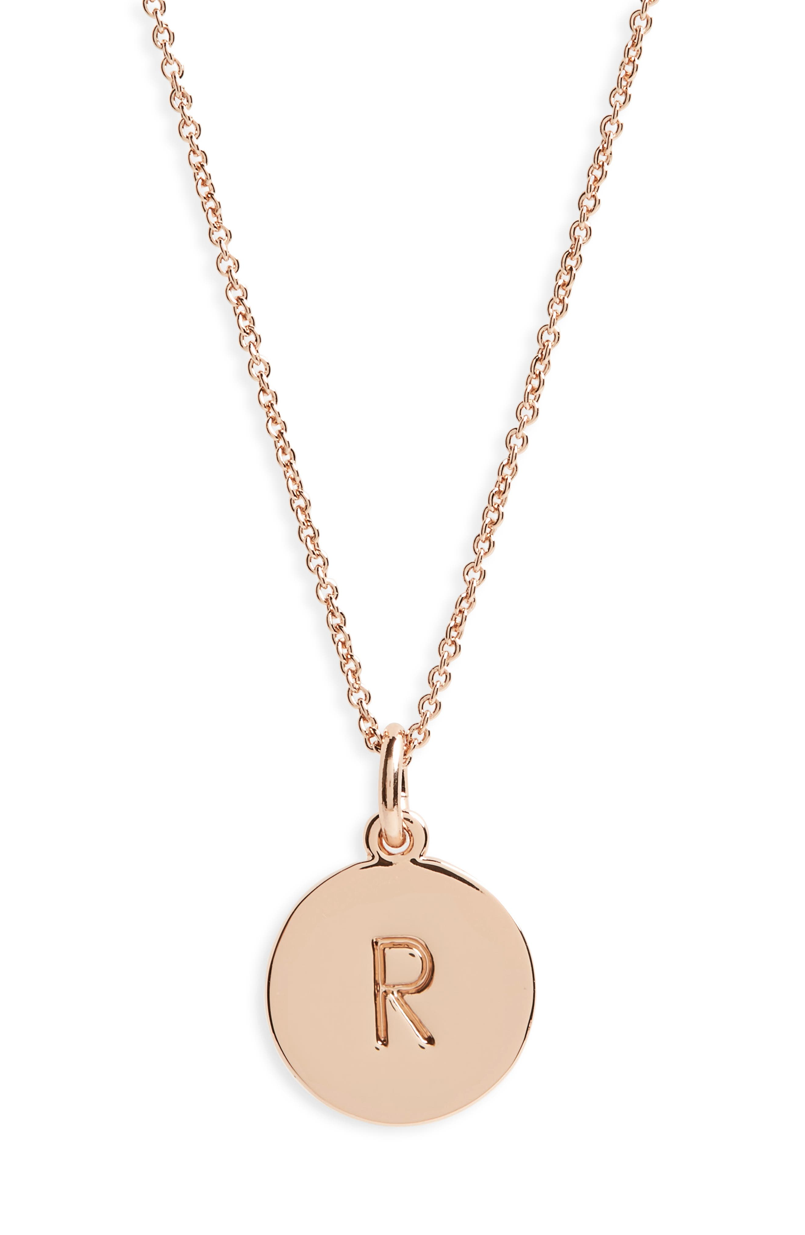 KATE SPADE NEW YORK one in a million pendant necklace, Main, color, R/ ROSE GOLD