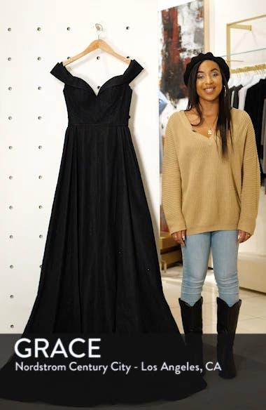 Off the Shoulder Lace Evening Dress, sales video thumbnail