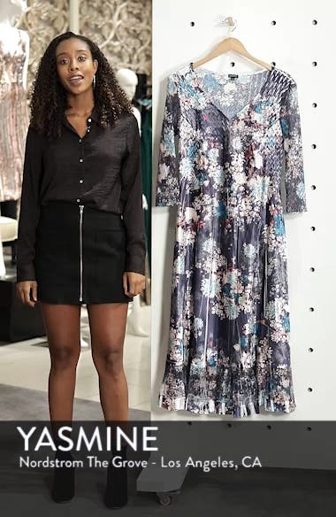 Print Charmeuse & Chiffon A-Line Dress, sales video thumbnail