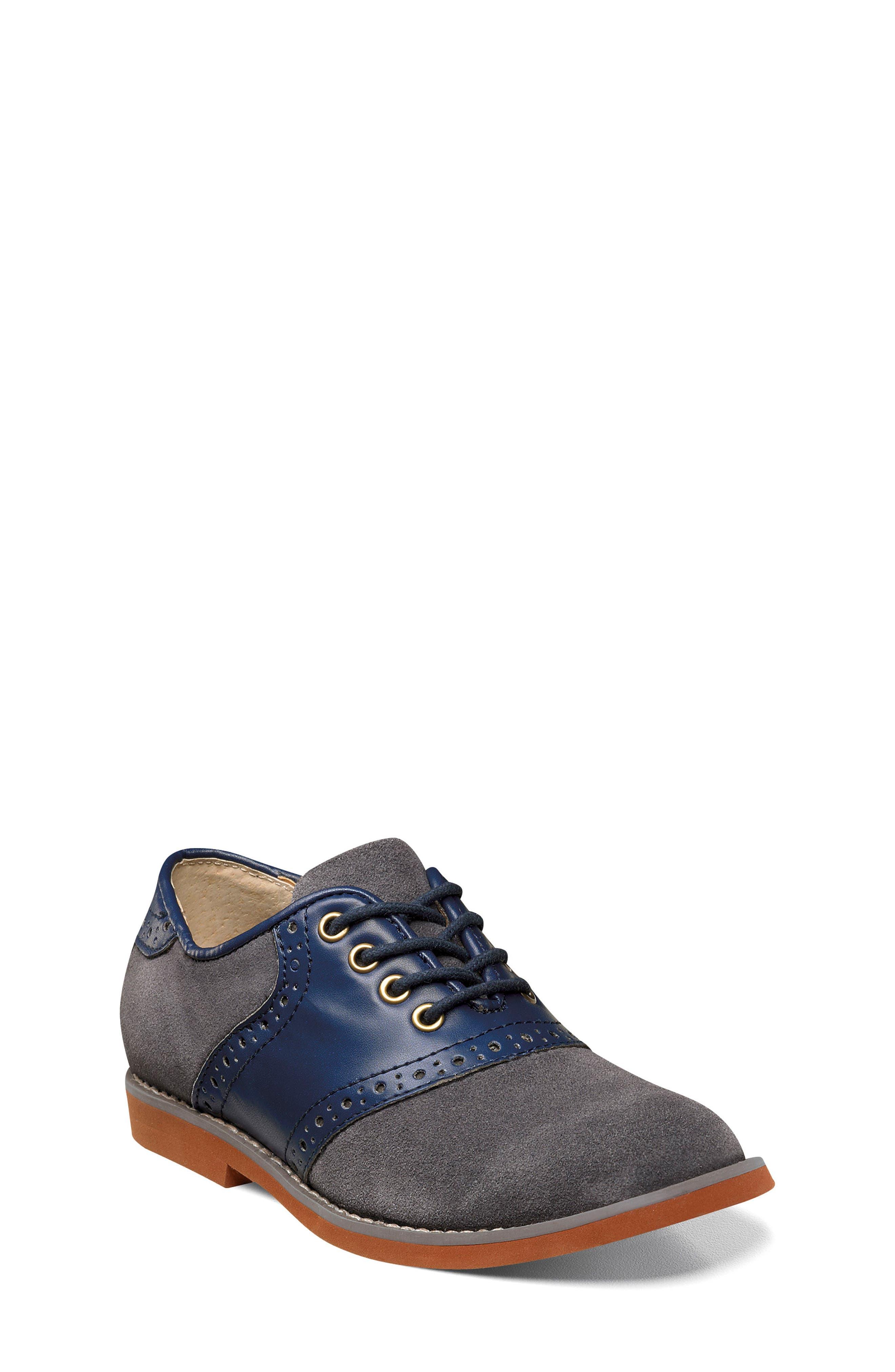 Boys Florsheim Kennett Oxford Size 4 M  Blue