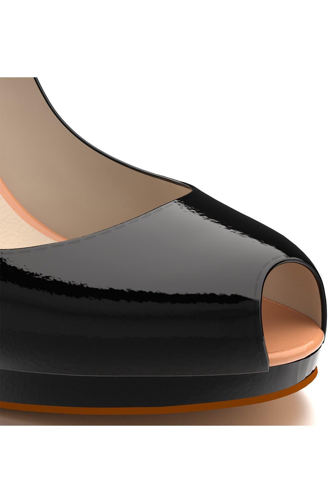 SHOES OF PREY,   Peep Toe Platform Pump, Alternate thumbnail 2, color, 001