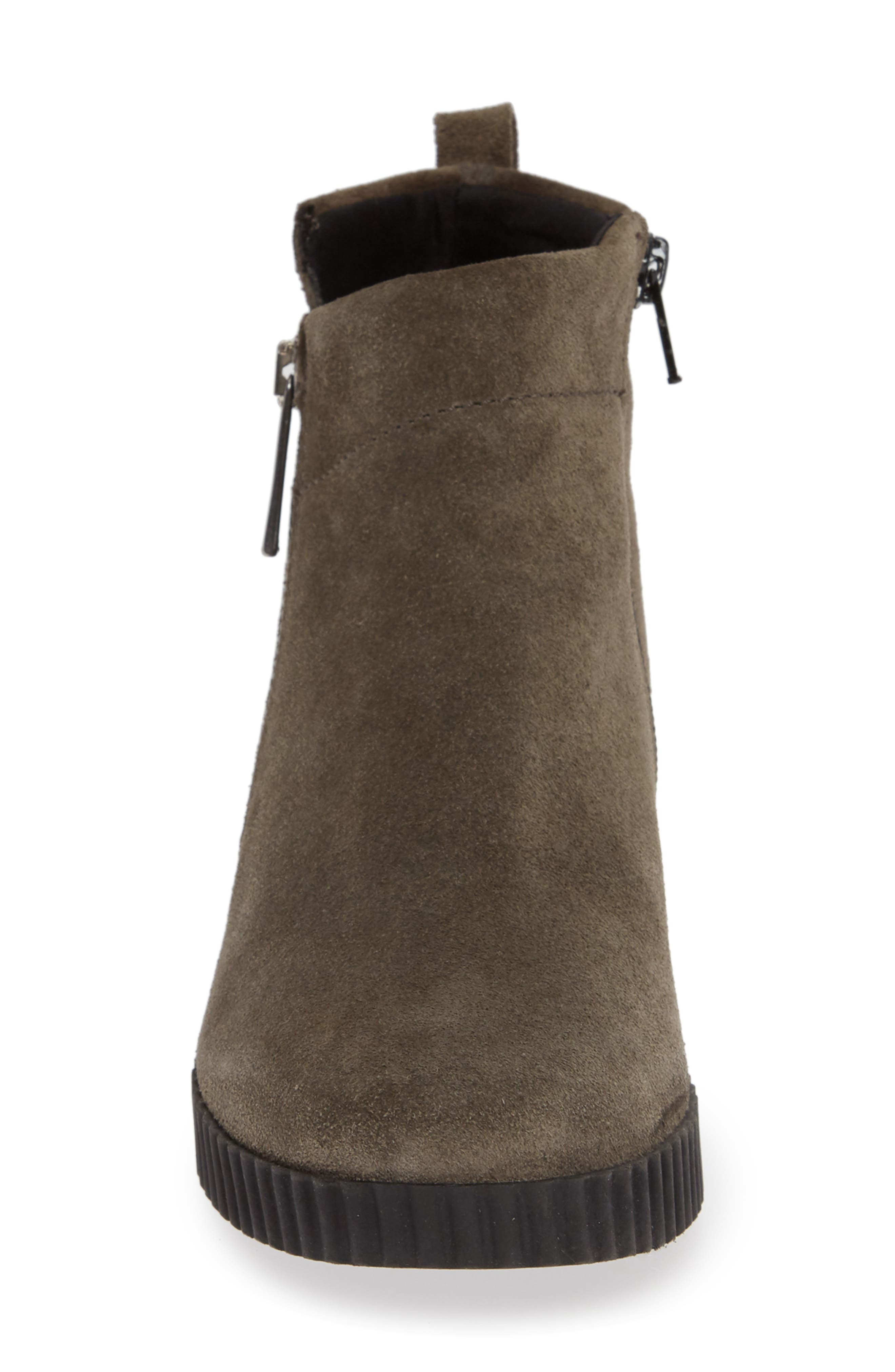 THE FLEXX, Easy Does It Wedge Bootie, Alternate thumbnail 4, color, BROWN SUEDE