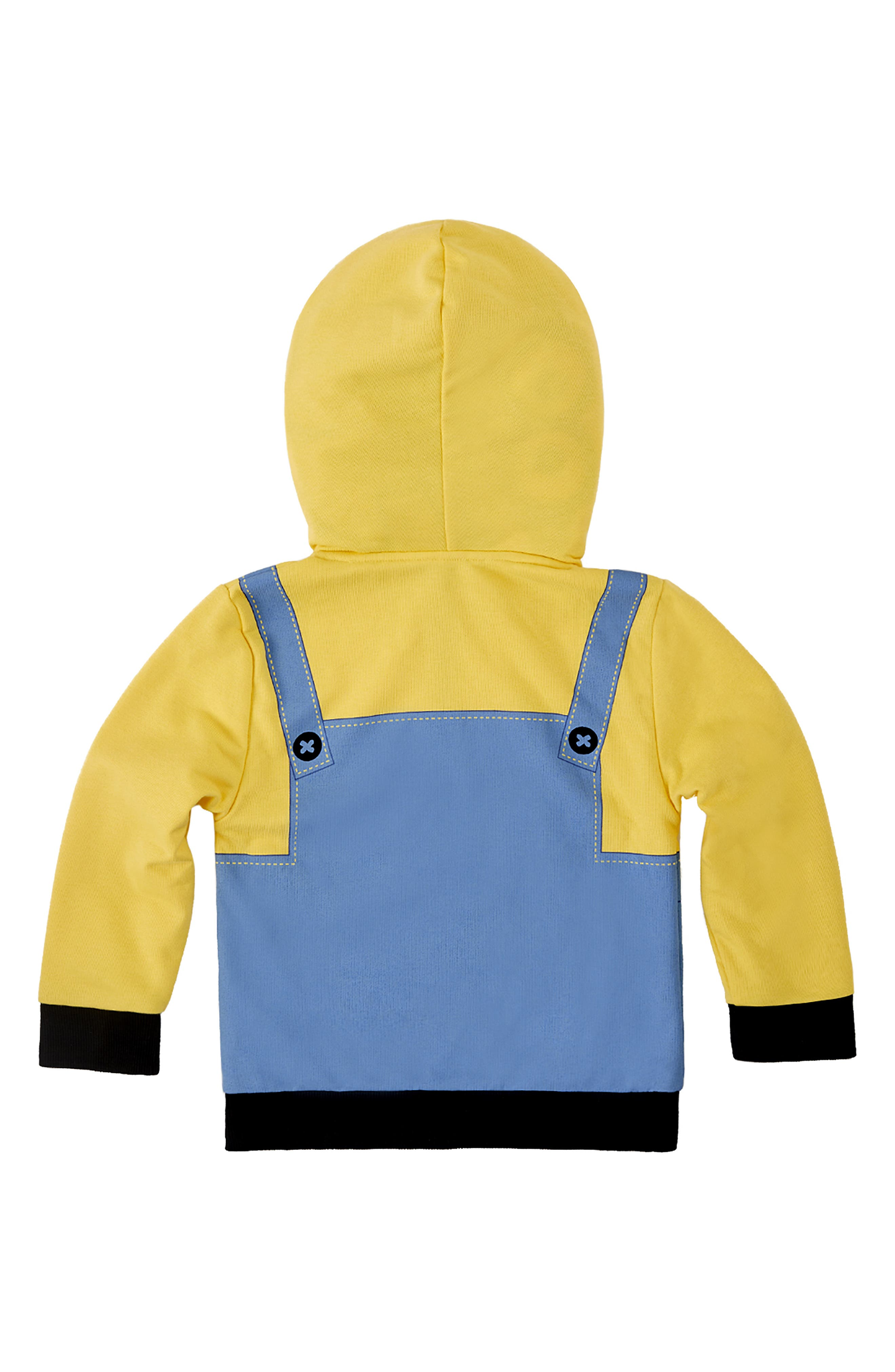 CUBCOATS, Minion Bob<sup>®</sup> 2-in-1 Stuffed Animal Hoodie, Alternate thumbnail 4, color, YELLOW / BLUE MIX
