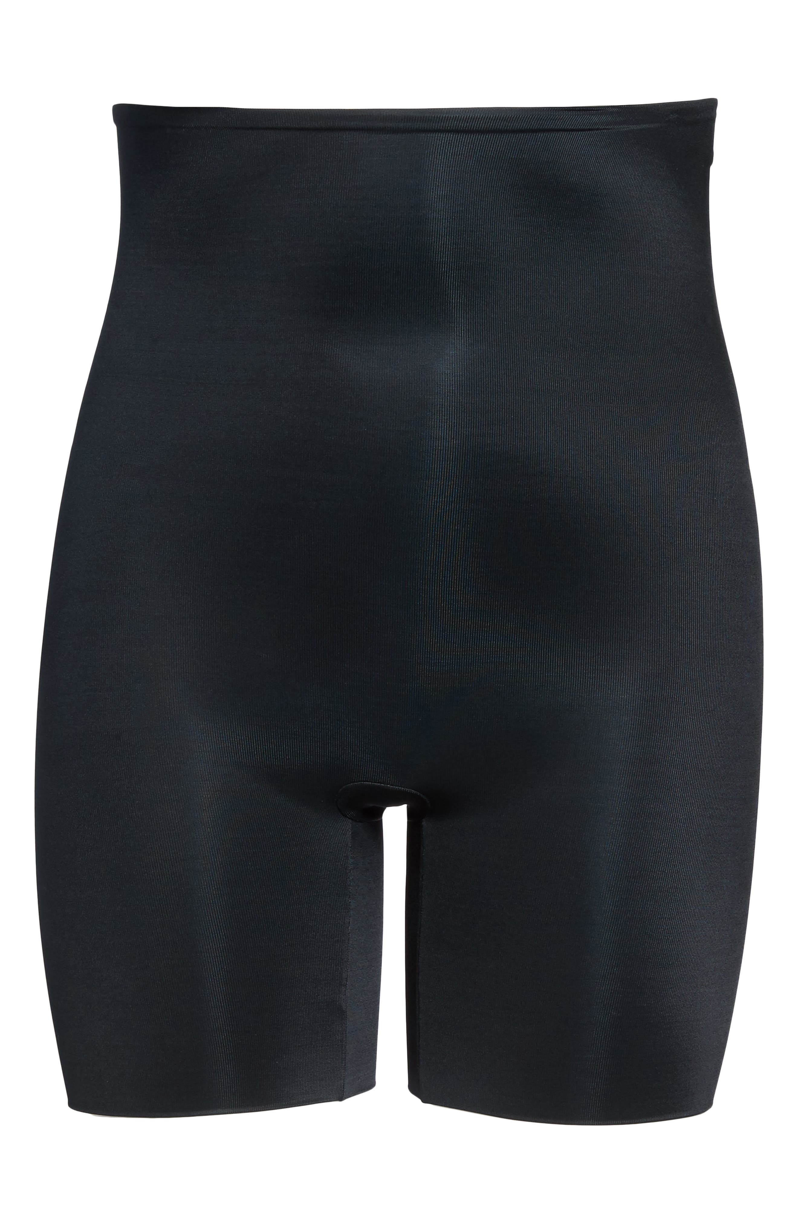 SPANX<SUP>®</SUP>, Power Conceal-Her<sup>™</sup> High Waist Extended Length Shorts, Alternate thumbnail 5, color, VERY BLACK