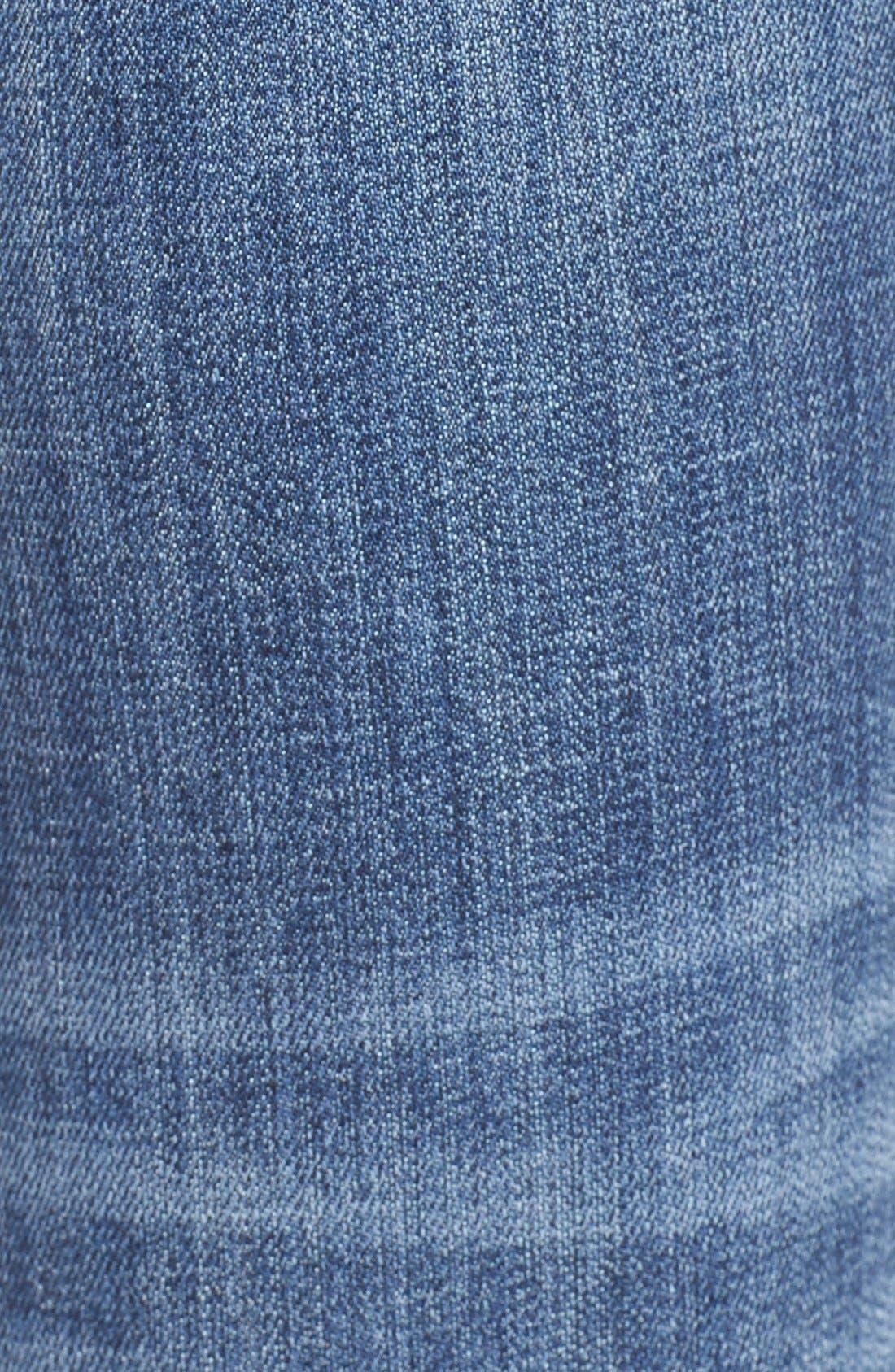 VIGOSS, 'Chelsea' Destroyed Skinny Jeans, Alternate thumbnail 5, color, 400