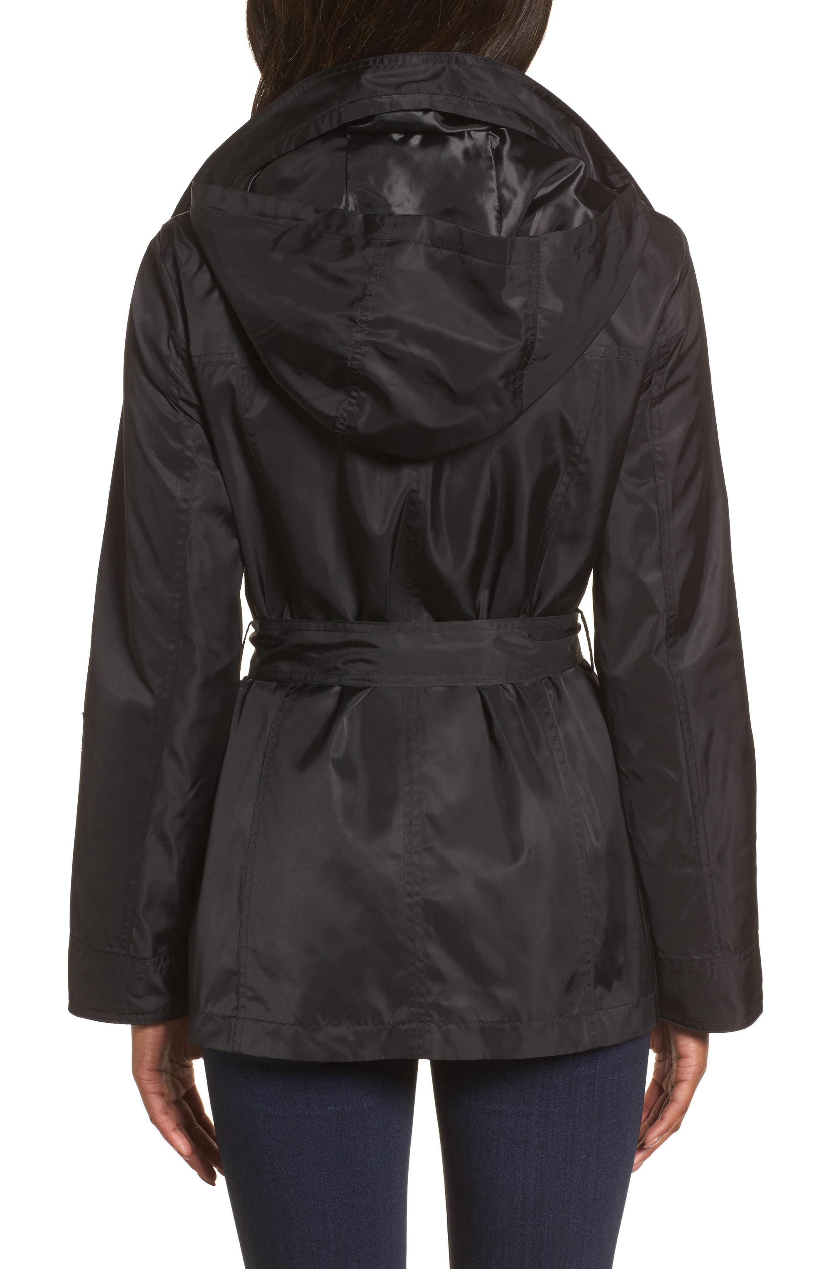 HALOGEN<SUP>®</SUP>, Belted Lightweight Jacket, Alternate thumbnail 5, color, BLACK