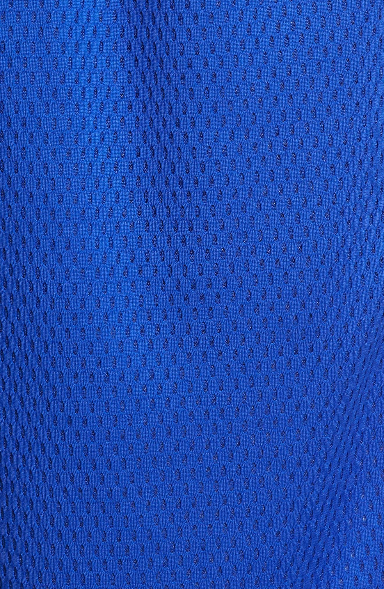 ADIDAS ORIGINALS, Mesh Athletic Shorts, Alternate thumbnail 5, color, BOLD BLUE/ WHITE