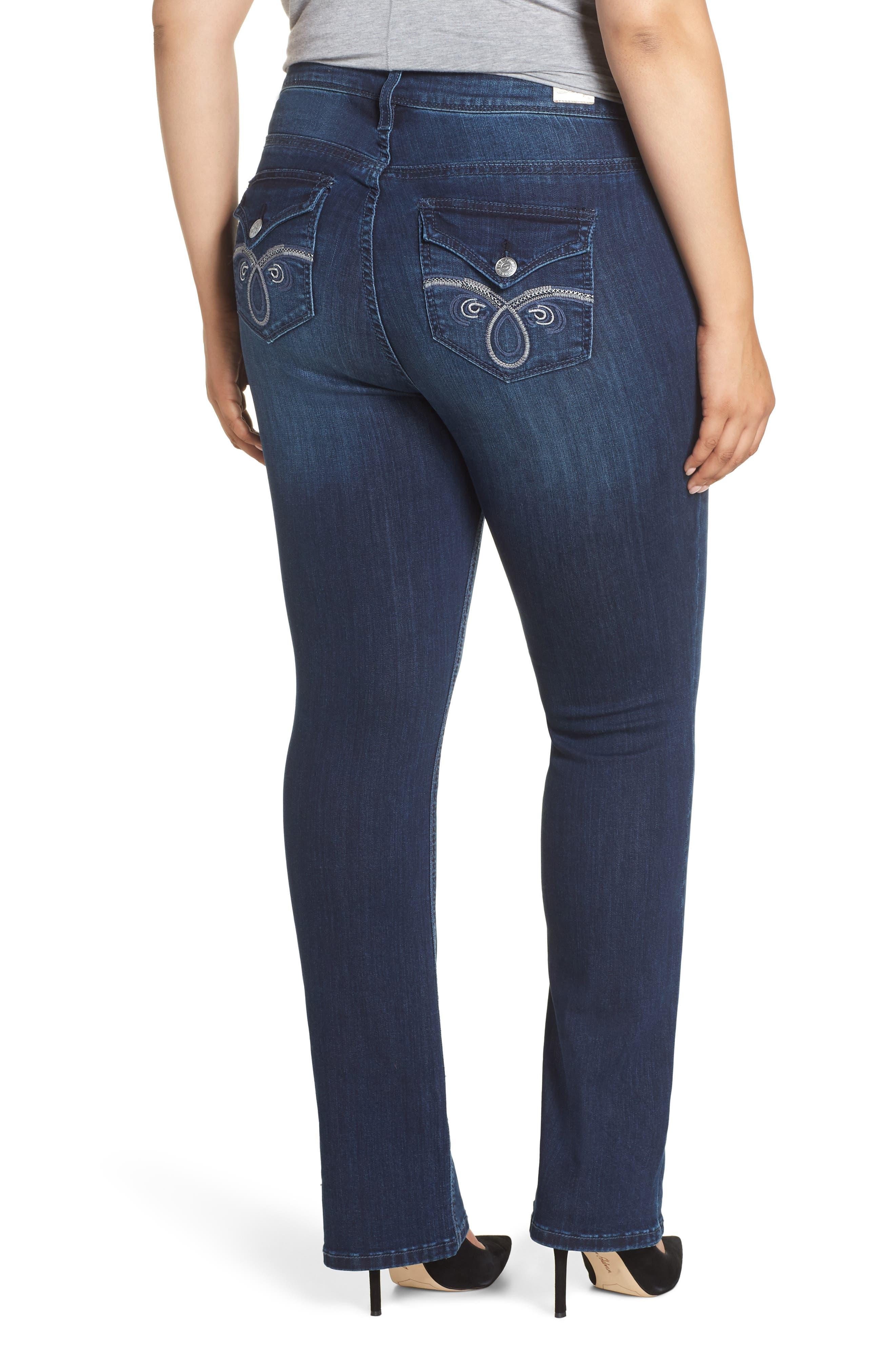 SEVEN7, Rocker Flap Pocket Slim Bootcut Jeans, Alternate thumbnail 2, color, CHALLENGER