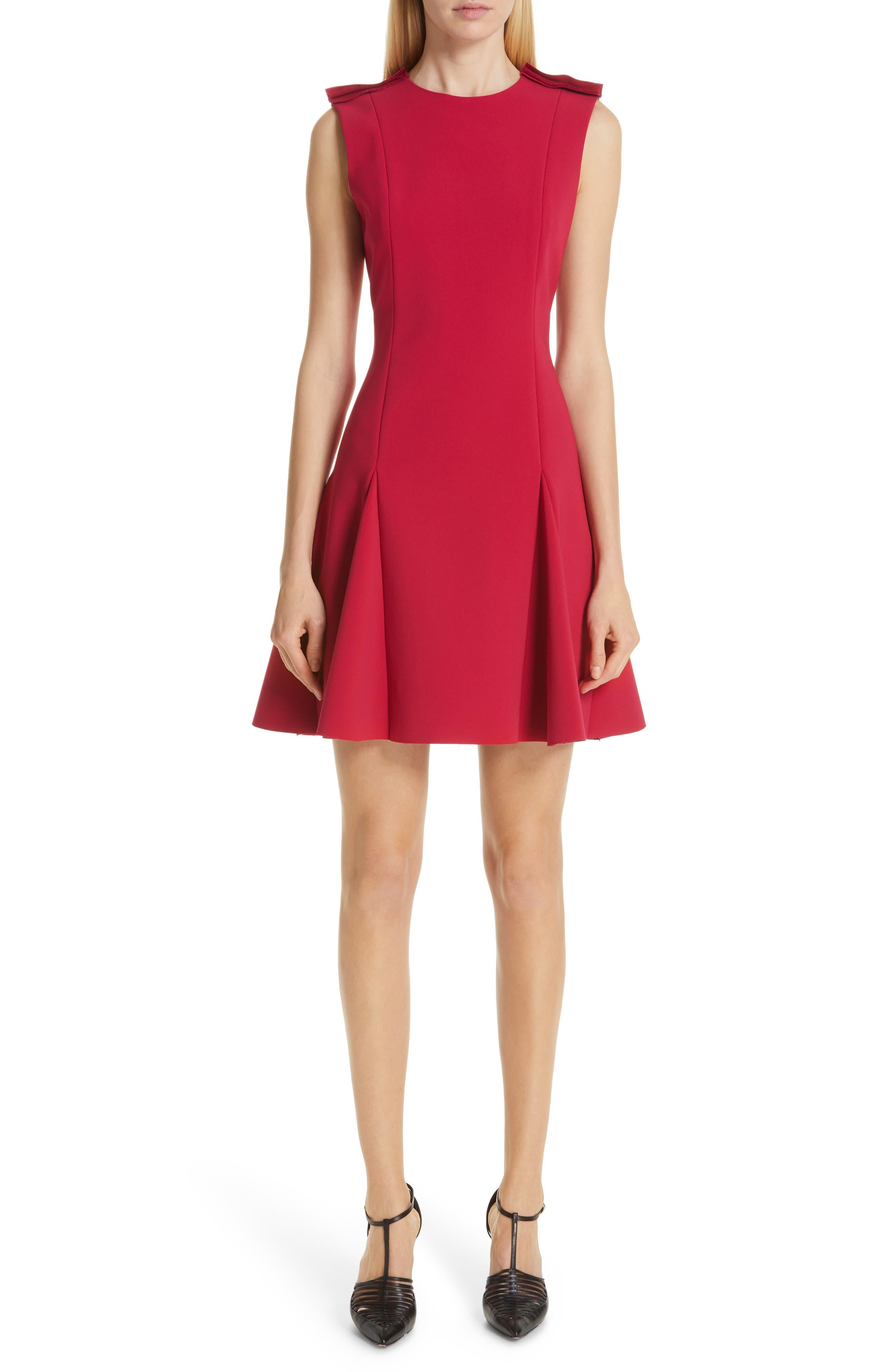 Jason Wu Collection Stretch Crepe Godet Dress, Pink