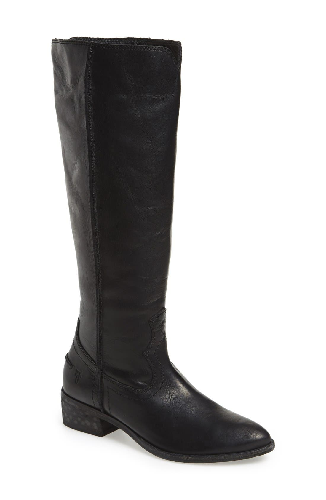 FRYE 'Ray Seam' Tall Boot, Main, color, 001