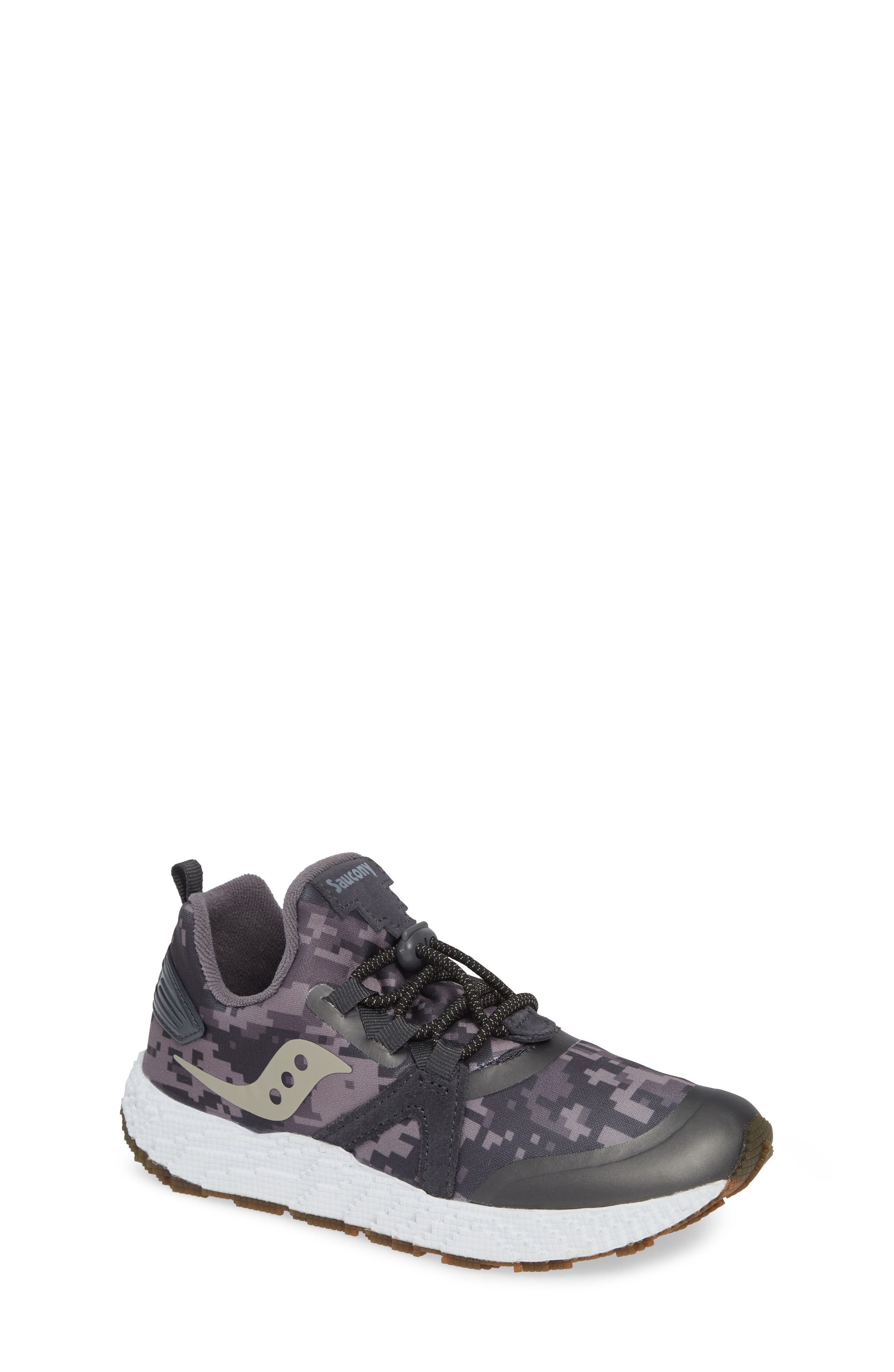 SAUCONY, Voxel 9000 Sneaker, Main thumbnail 1, color, GREY LEATHER/ MESH