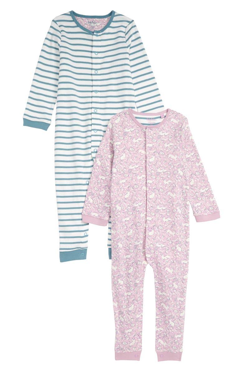 0e6c6ad1570 Mini Boden Pretty 2-Pack Rompers (Baby) | Nordstrom