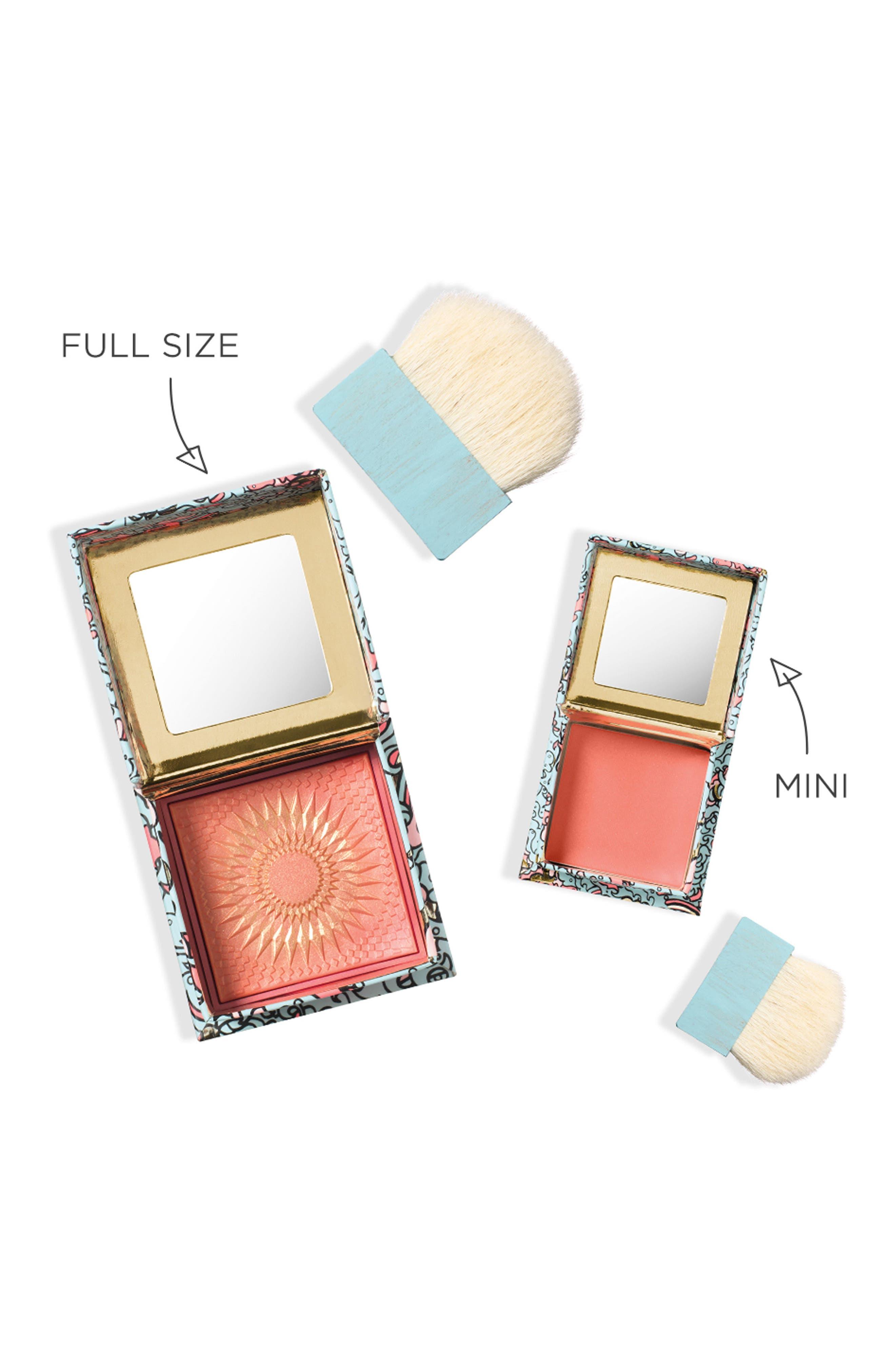 BENEFIT COSMETICS, Benefit GALifornia Sunny Golden Pink Powder Blush, Alternate thumbnail 2, color, SUNNY GOLDEN PINK