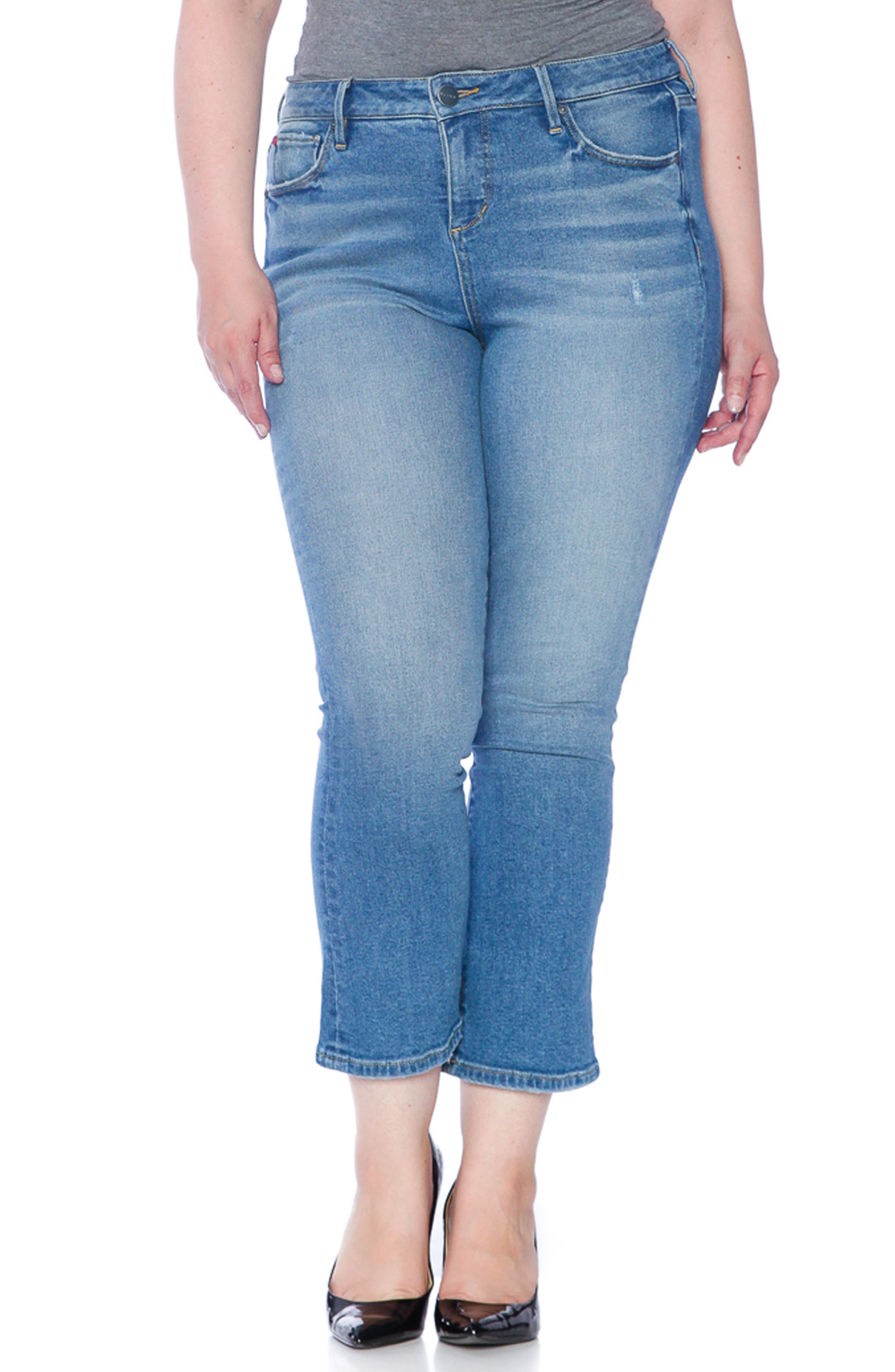 SLINK JEANS, Crop Flare Jeans, Alternate thumbnail 4, color, PATTI