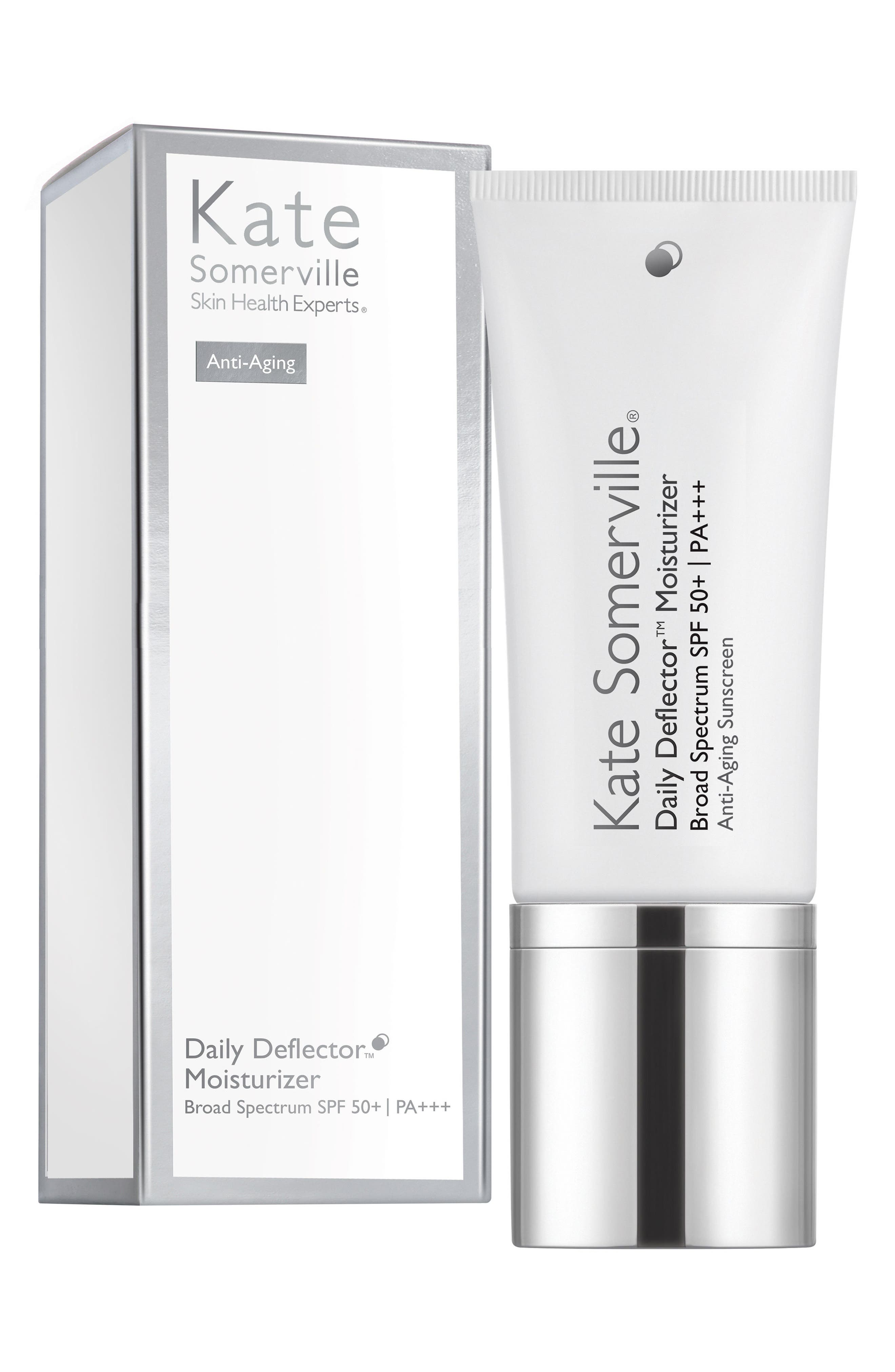 KATE SOMERVILLE<SUP>®</SUP>, 'Daily Deflector<sup>™</sup>' Moisturizer Broad Spectrum SPF 50+ Anti-Aging Sunscreen, Alternate thumbnail 2, color, 000