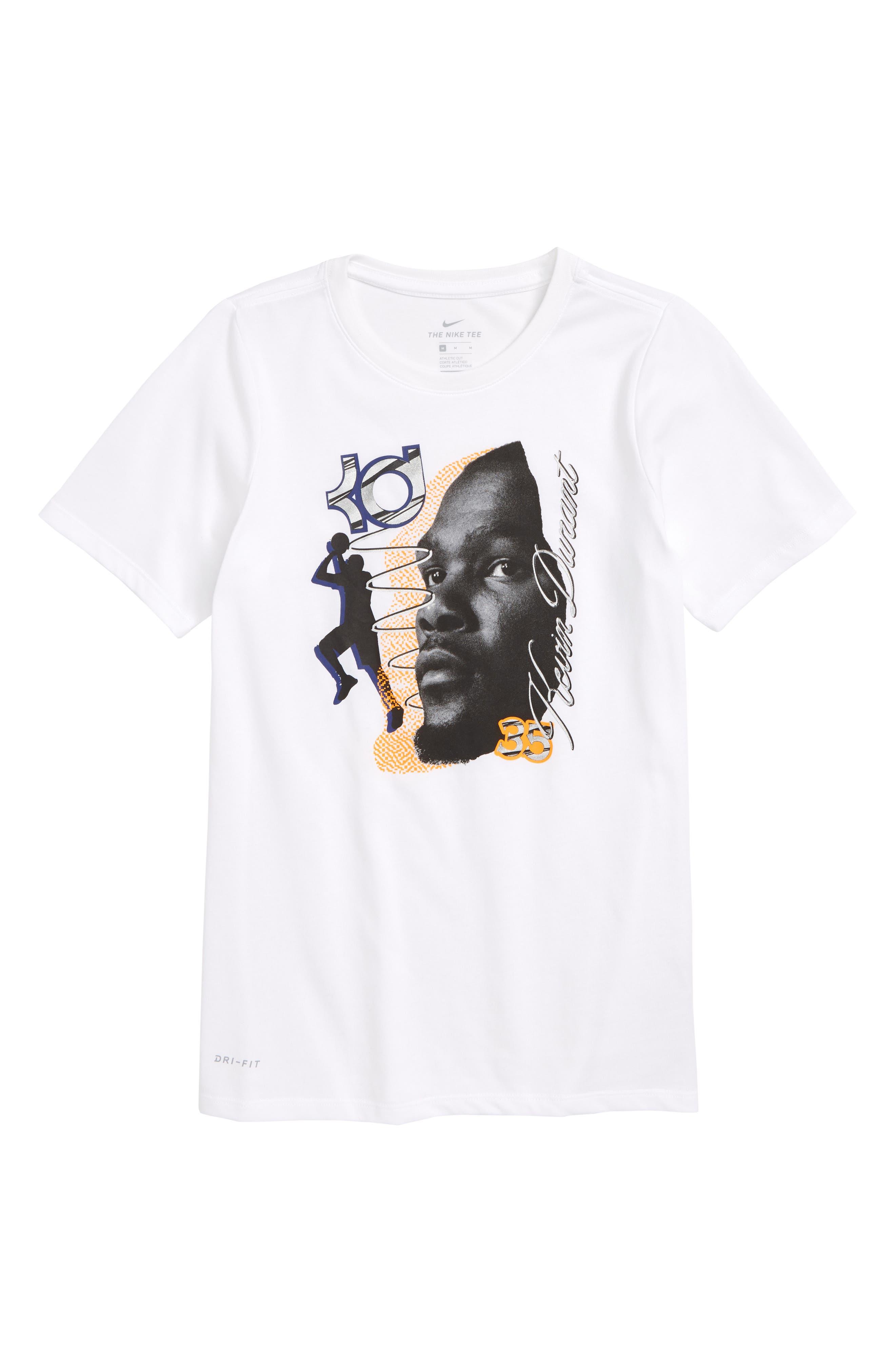 NIKE, KD Dry T-Shirt, Main thumbnail 1, color, 100