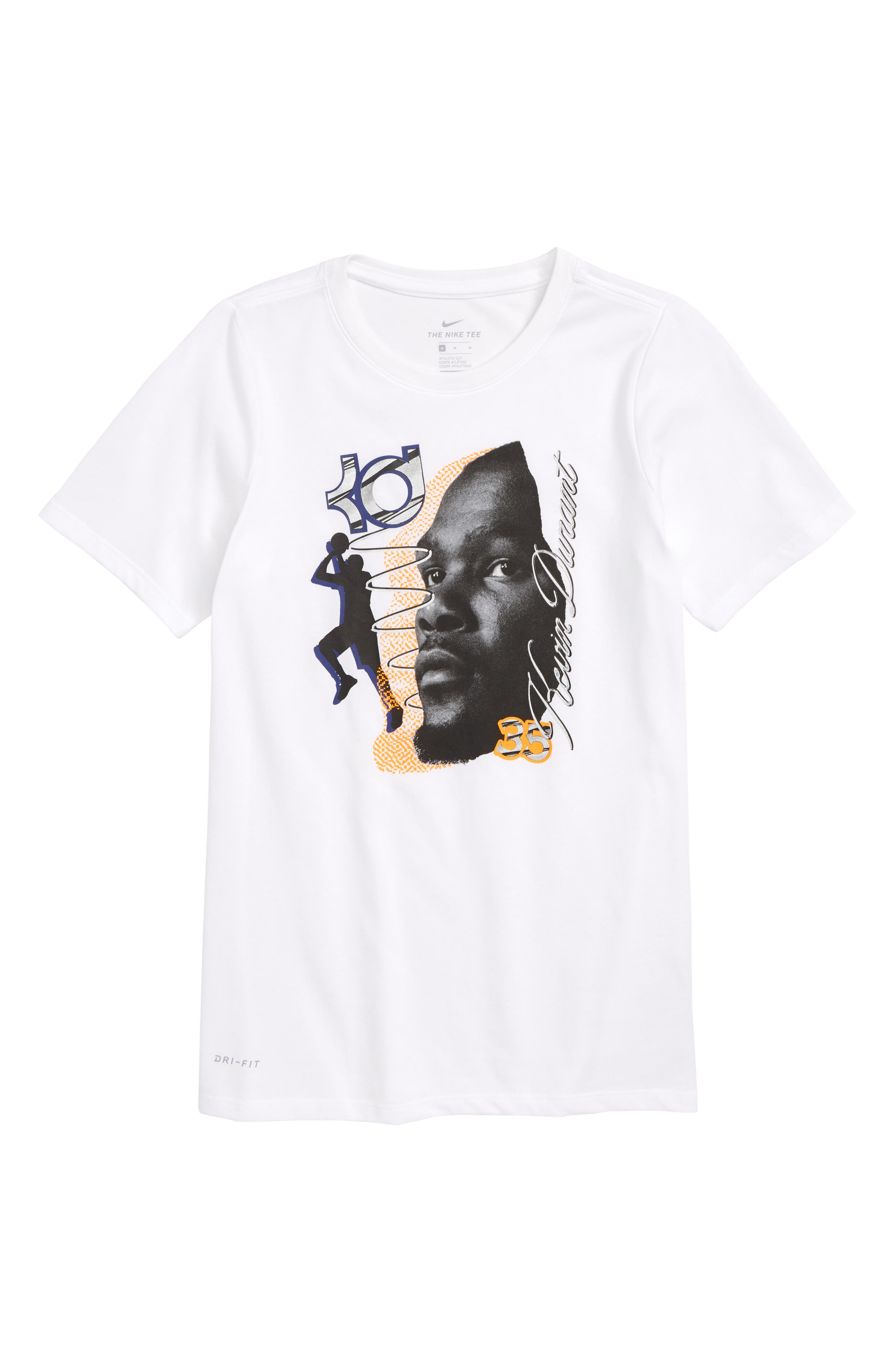 NIKE KD Dry T-Shirt, Main, color, 100