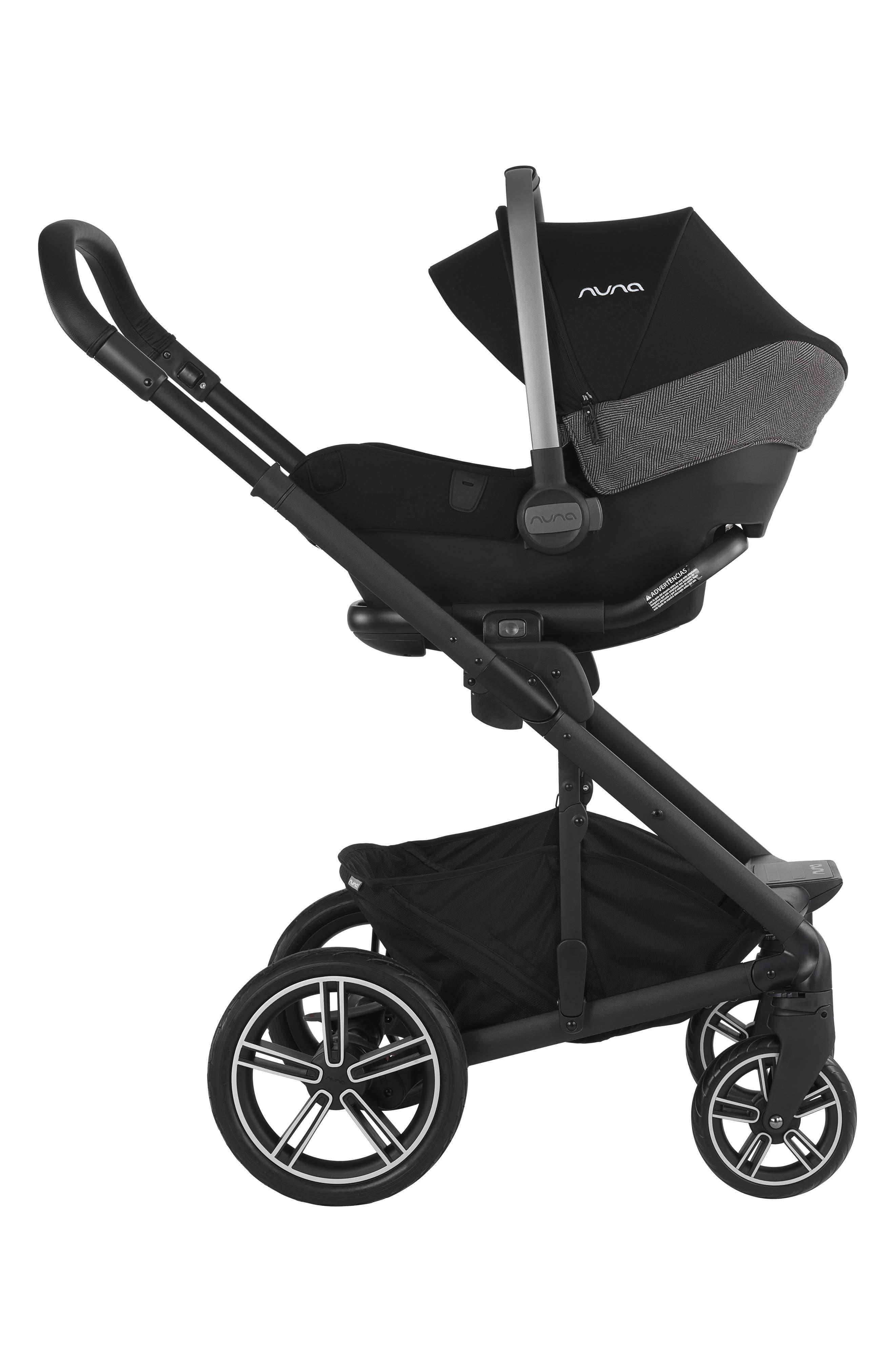 NUNA, 2019 MIXX<sup>™</sup> Stroller & PIPA<sup>™</sup> Lite LX Infant Car Seat Set Travel System, Alternate thumbnail 10, color, VERONA CAVIAR