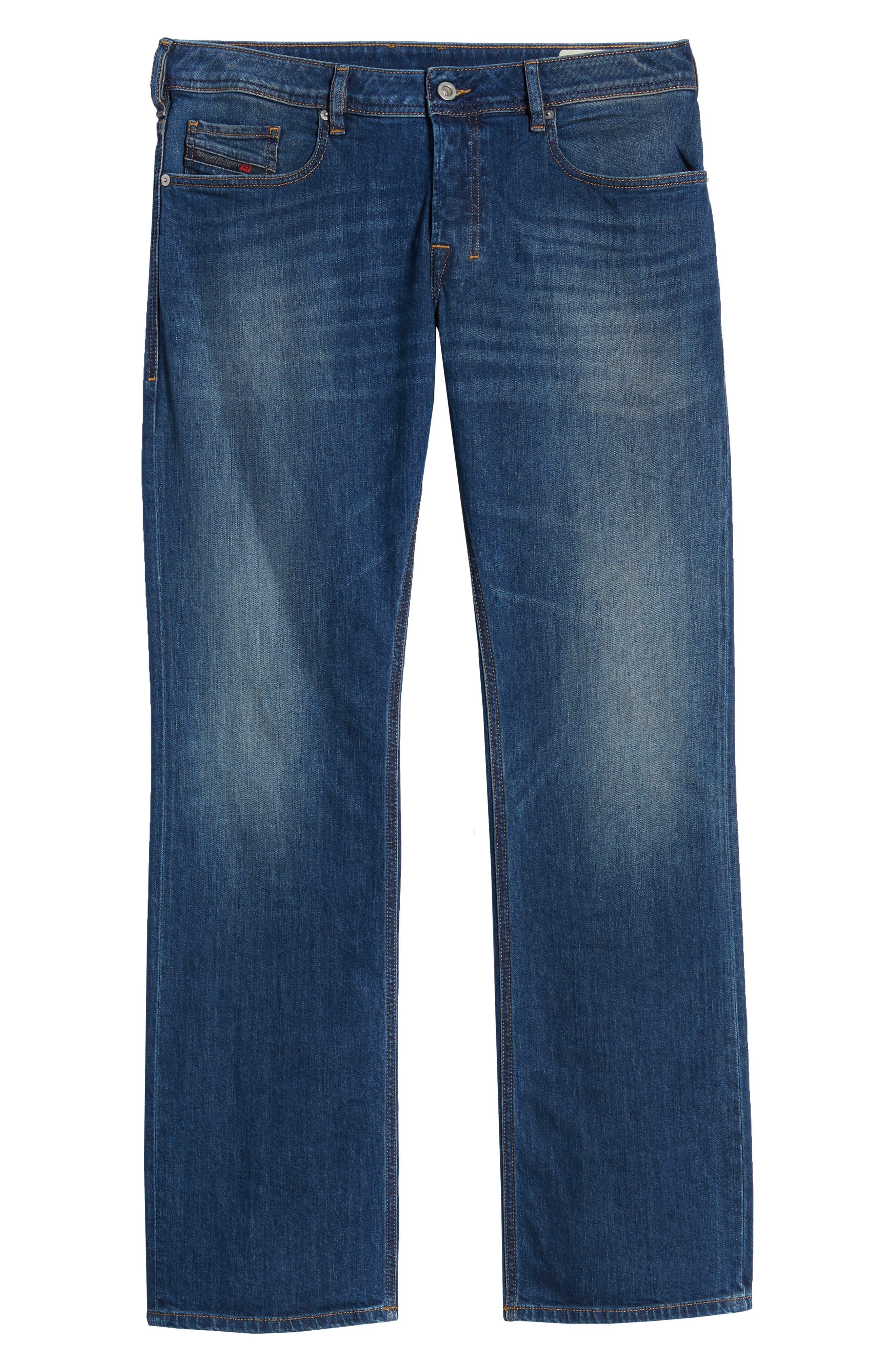 DIESEL<SUP>®</SUP>, Zatiny Bootcut Jeans, Alternate thumbnail 7, color, DENIM