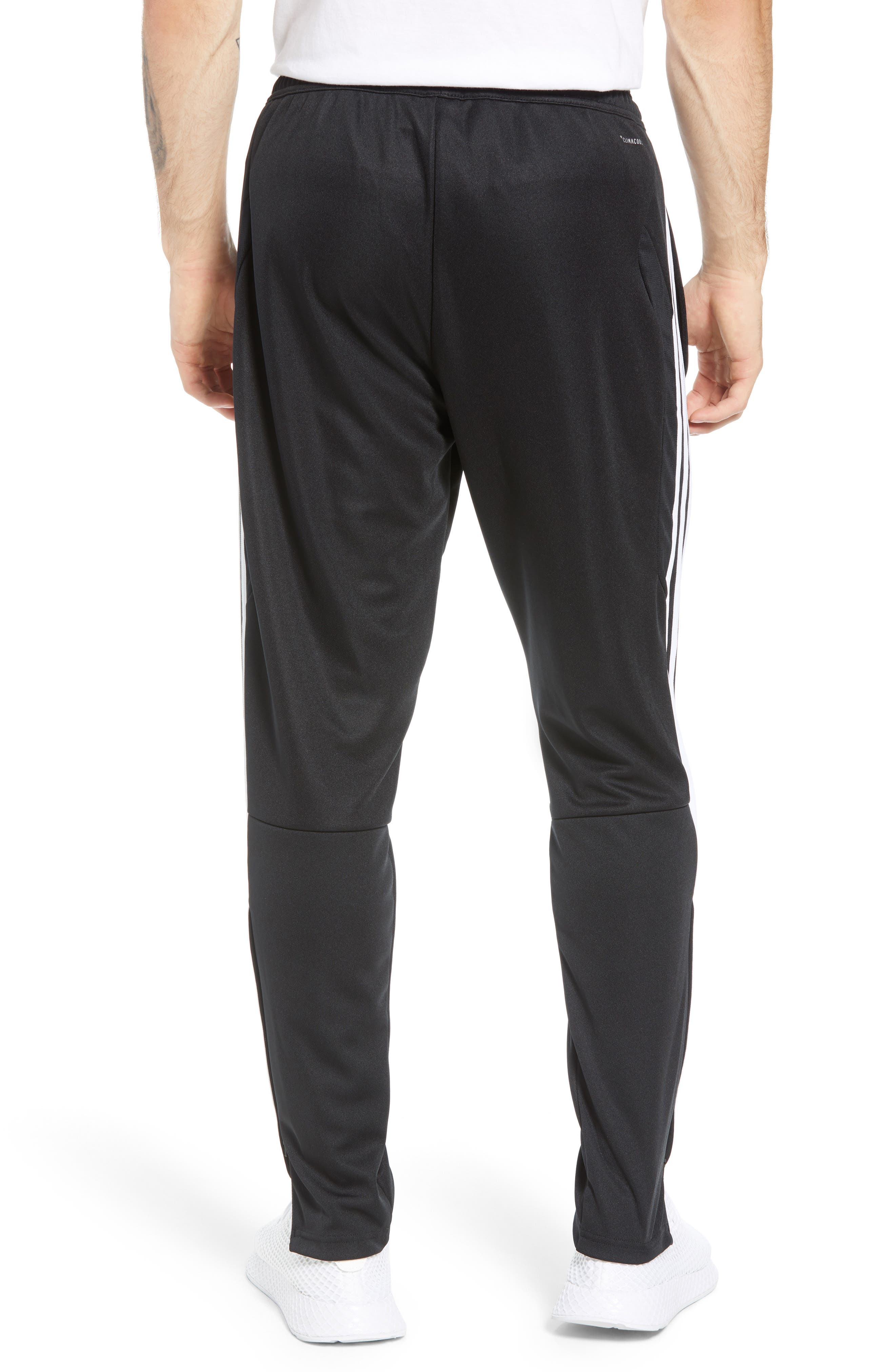 ADIDAS, Tiro Soccer Training Pants, Alternate thumbnail 2, color, BLACK/ WHITE