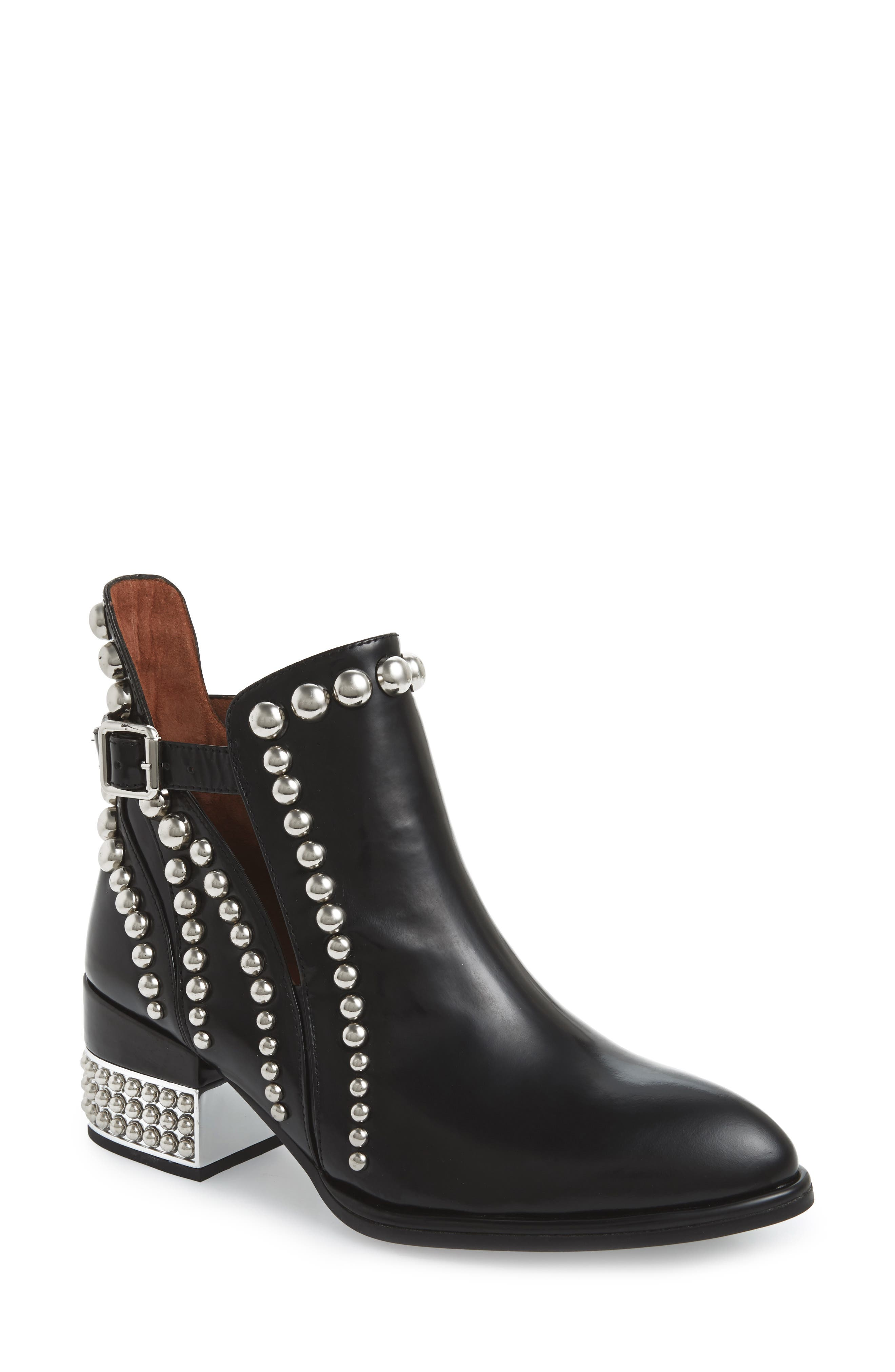 JEFFREY CAMPBELL Rylance Bootie, Main, color, BLACK BOX SILVER