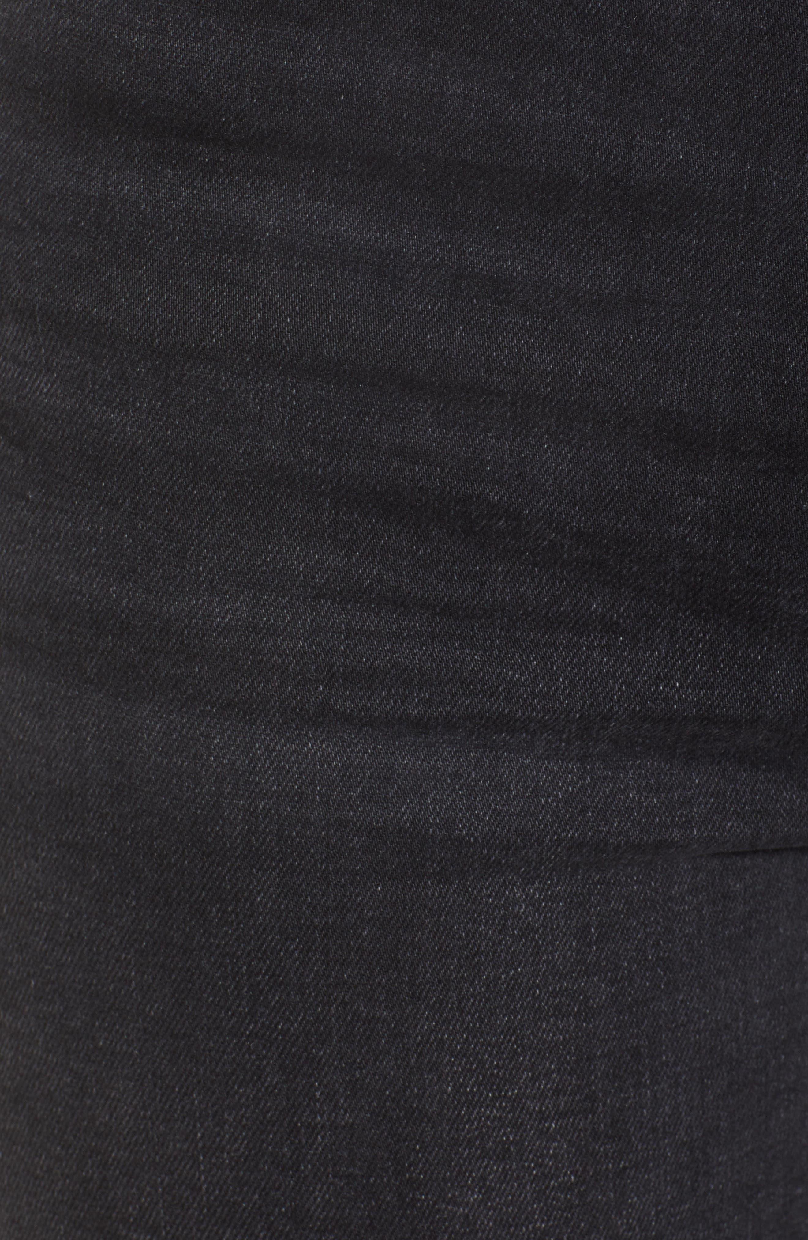 TOPSHOP, Jamie Jeans, Alternate thumbnail 6, color, WASHED BLACK