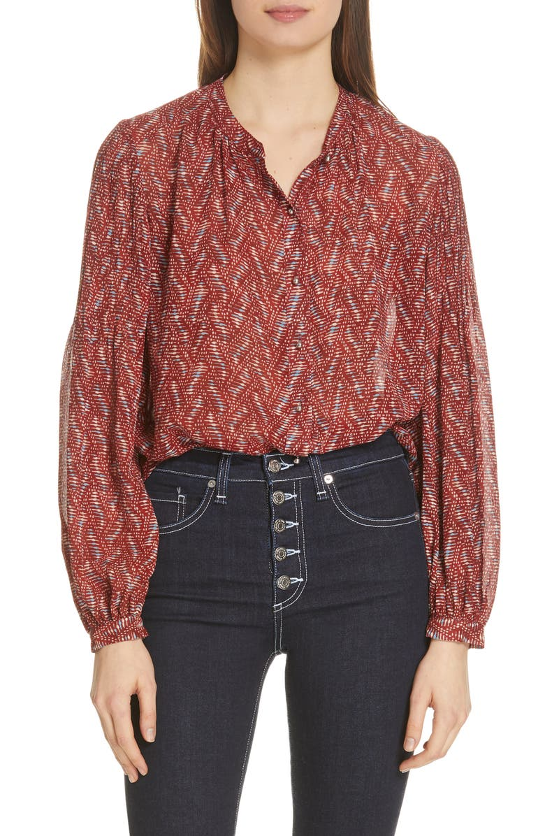Veronica Beard Tops NICOLA SILK BLOUSE
