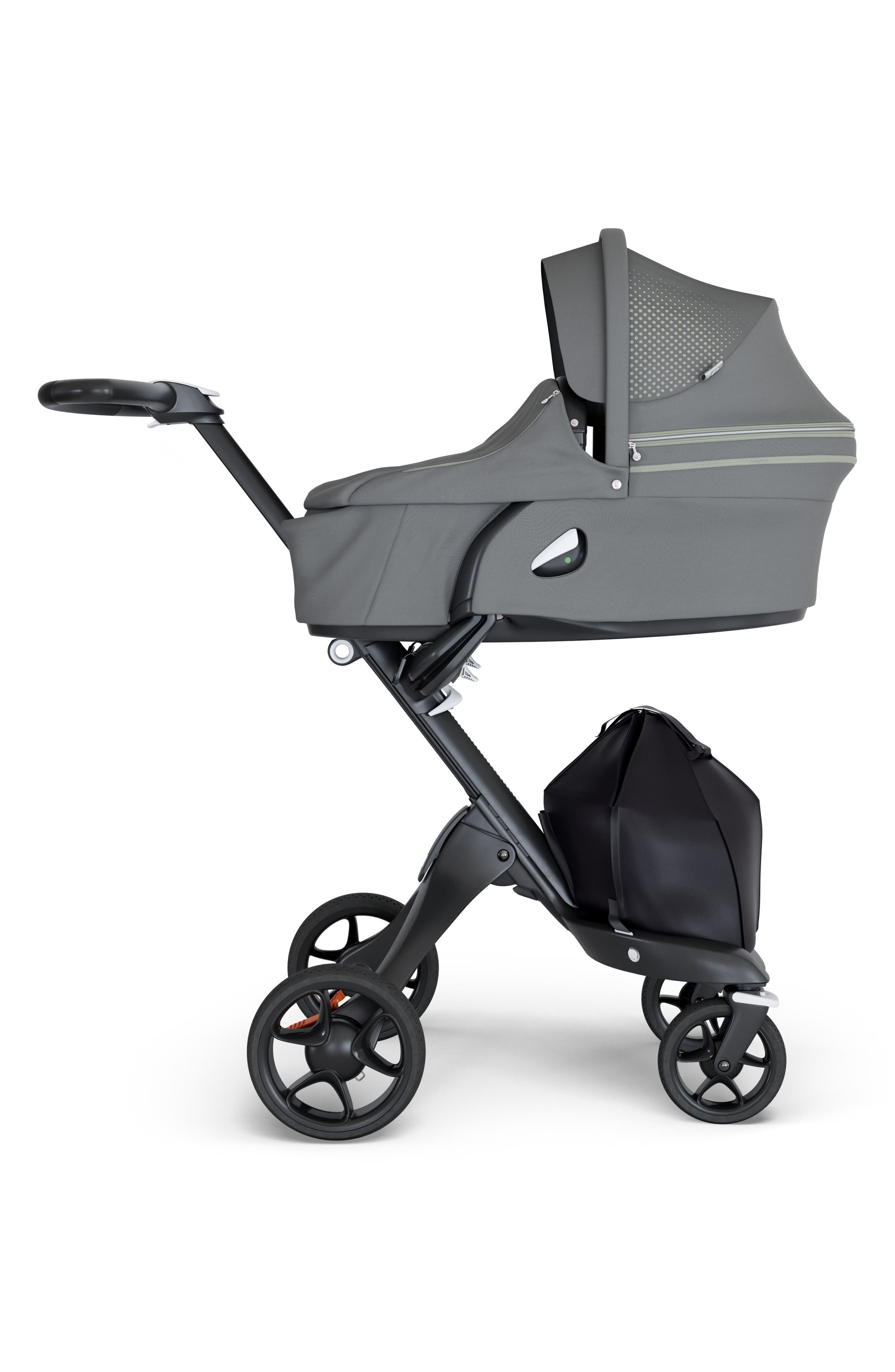 STOKKE, Xplory<sup>®</sup> Athleisure Stroller Carrycot Attachment, Main thumbnail 1, color, GREEN
