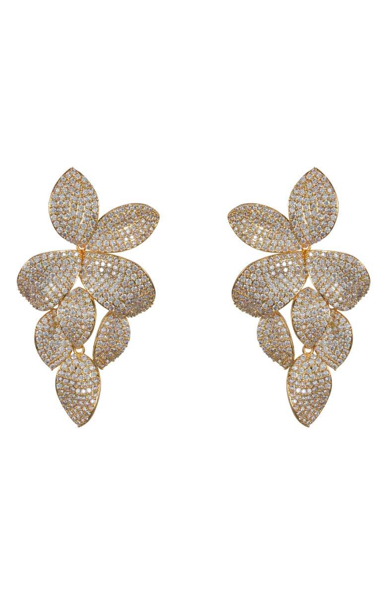 Nina Accessories Floral Pavé Earrings