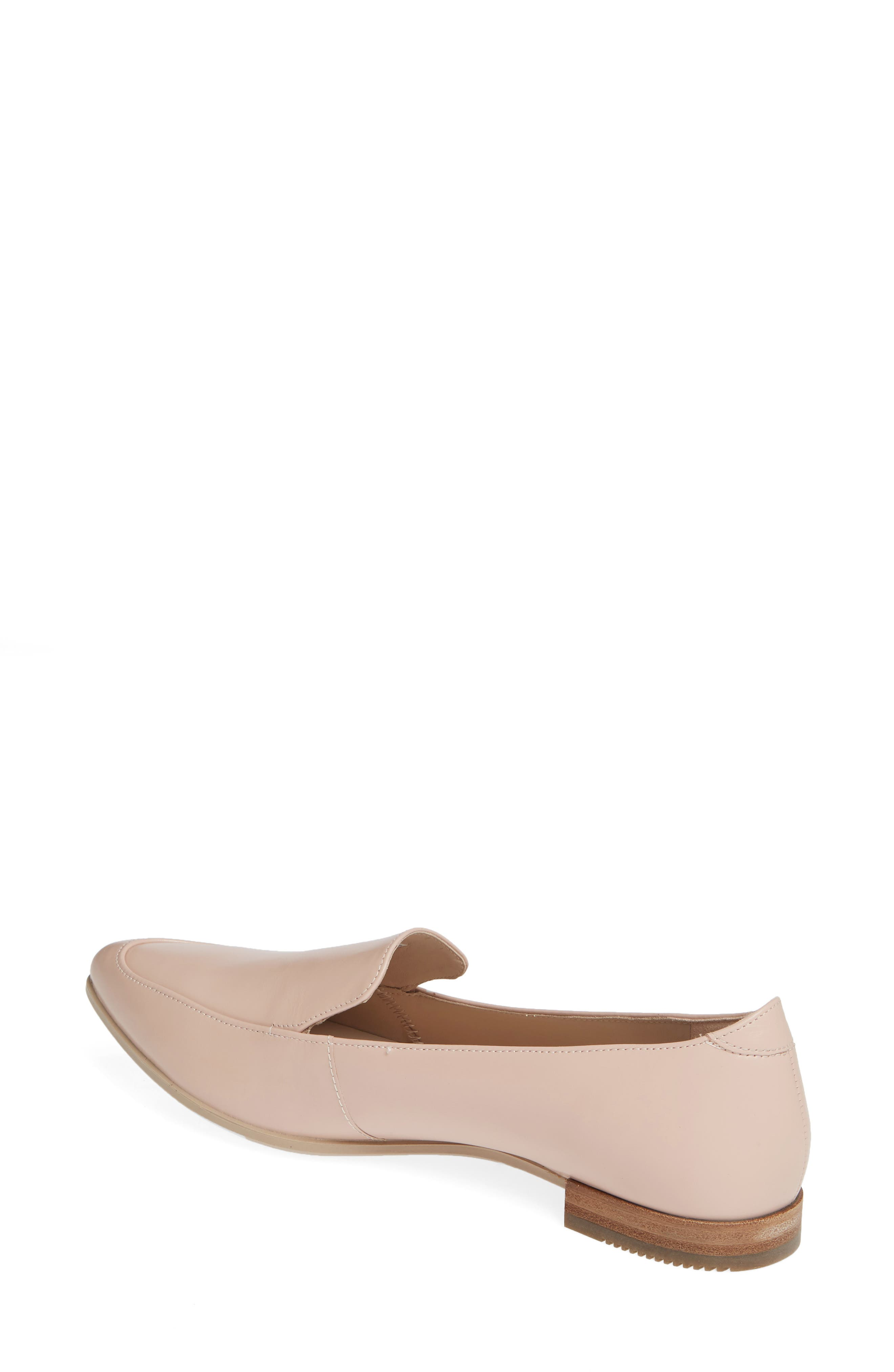 ECCO, Shape Pointy Ballerina II Flat, Alternate thumbnail 2, color, ROSE DUST LEATHER