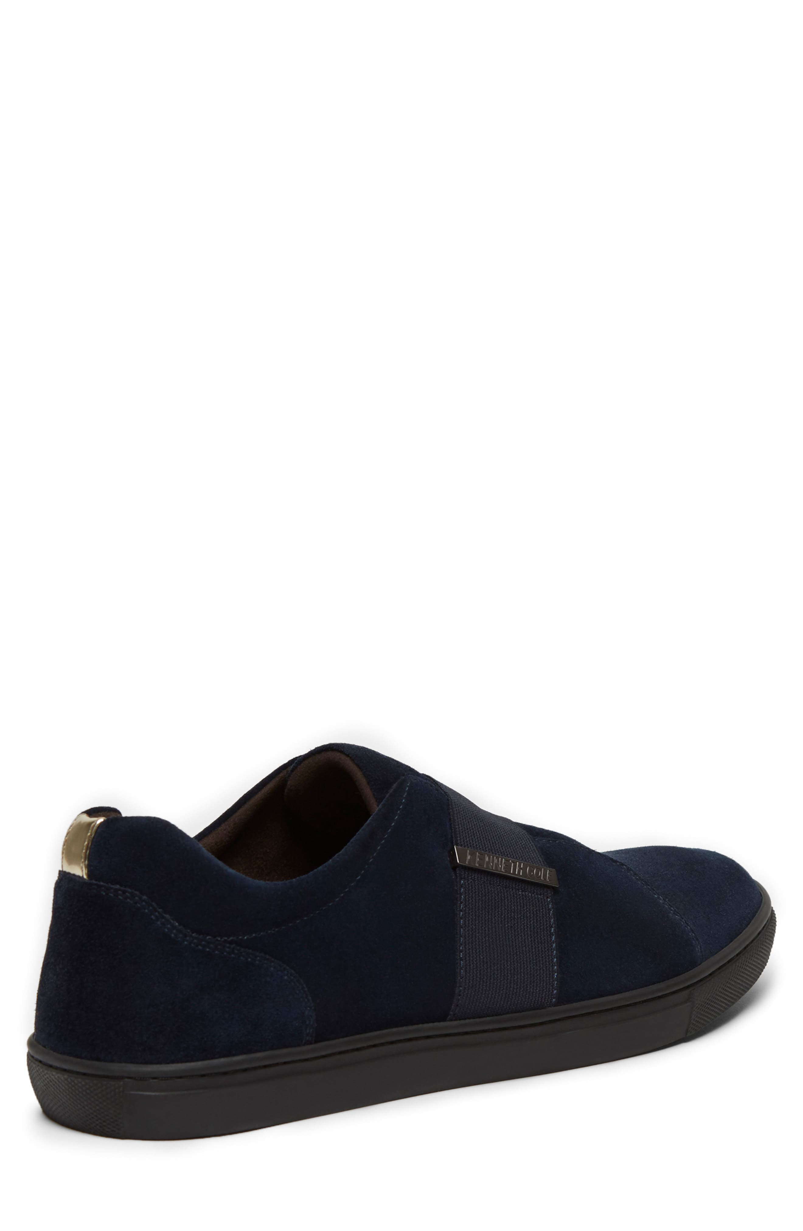KENNETH COLE NEW YORK, Kam Slip-On, Alternate thumbnail 5, color, NAVY SUEDE