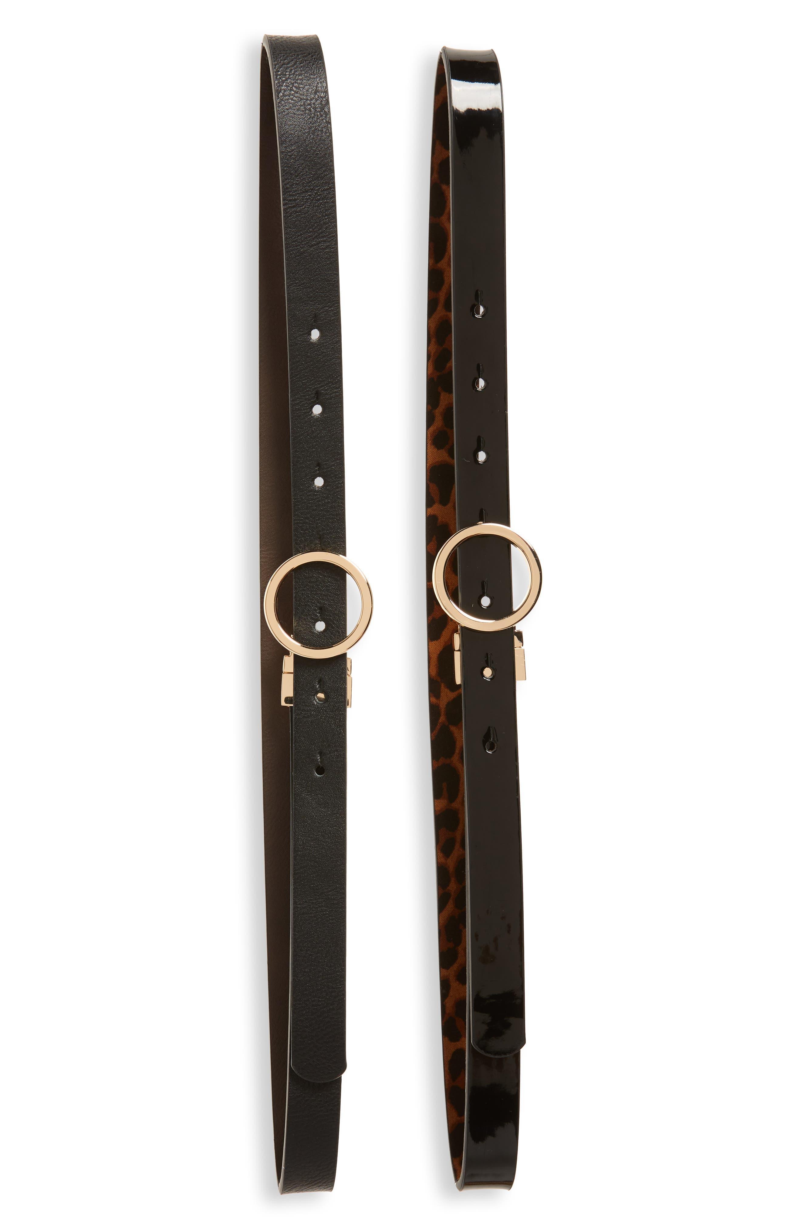 BP. 2-Pack Reversible Faux Leather Belts, Main, color, BROWN MULTI