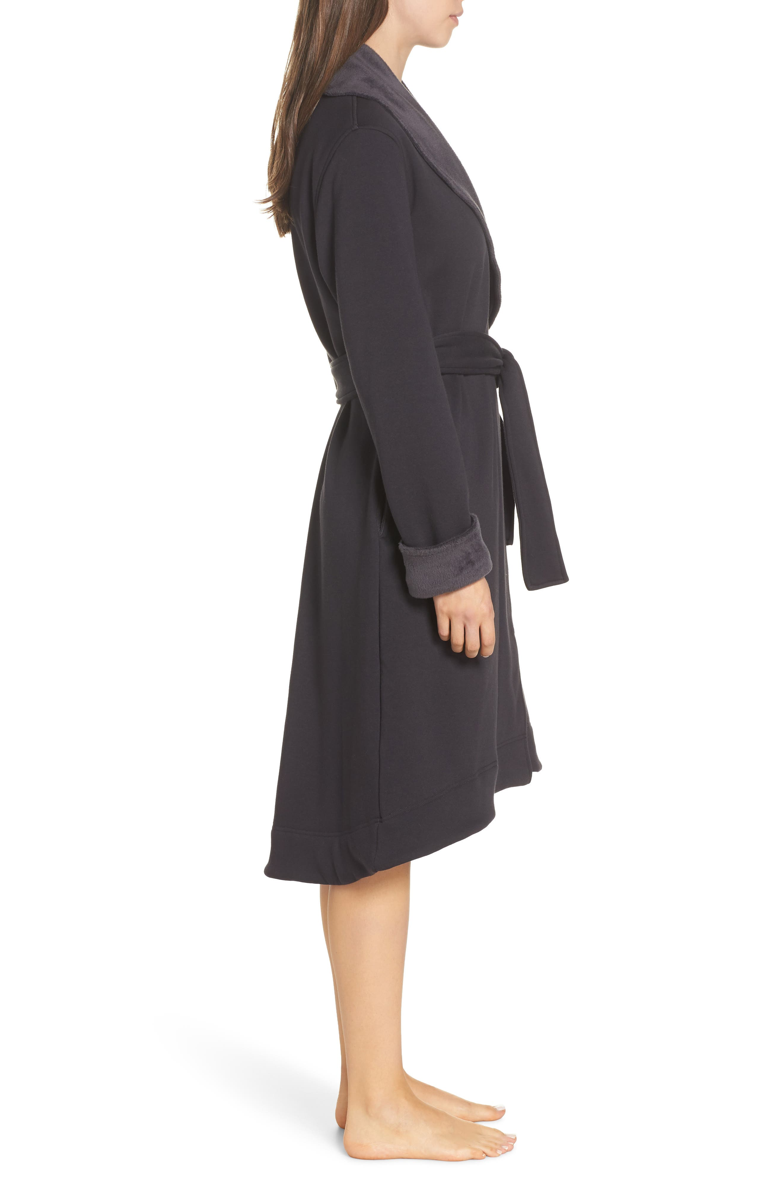 UGG<SUP>®</SUP>, Duffield II Robe, Alternate thumbnail 3, color, CHARCOAL