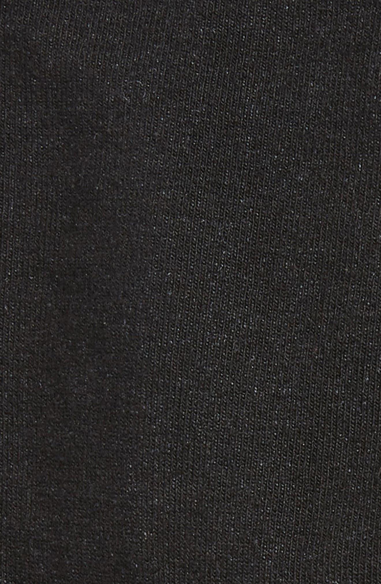 HUE, Jeans 3-Pack Crew Socks, Alternate thumbnail 2, color, BLACK