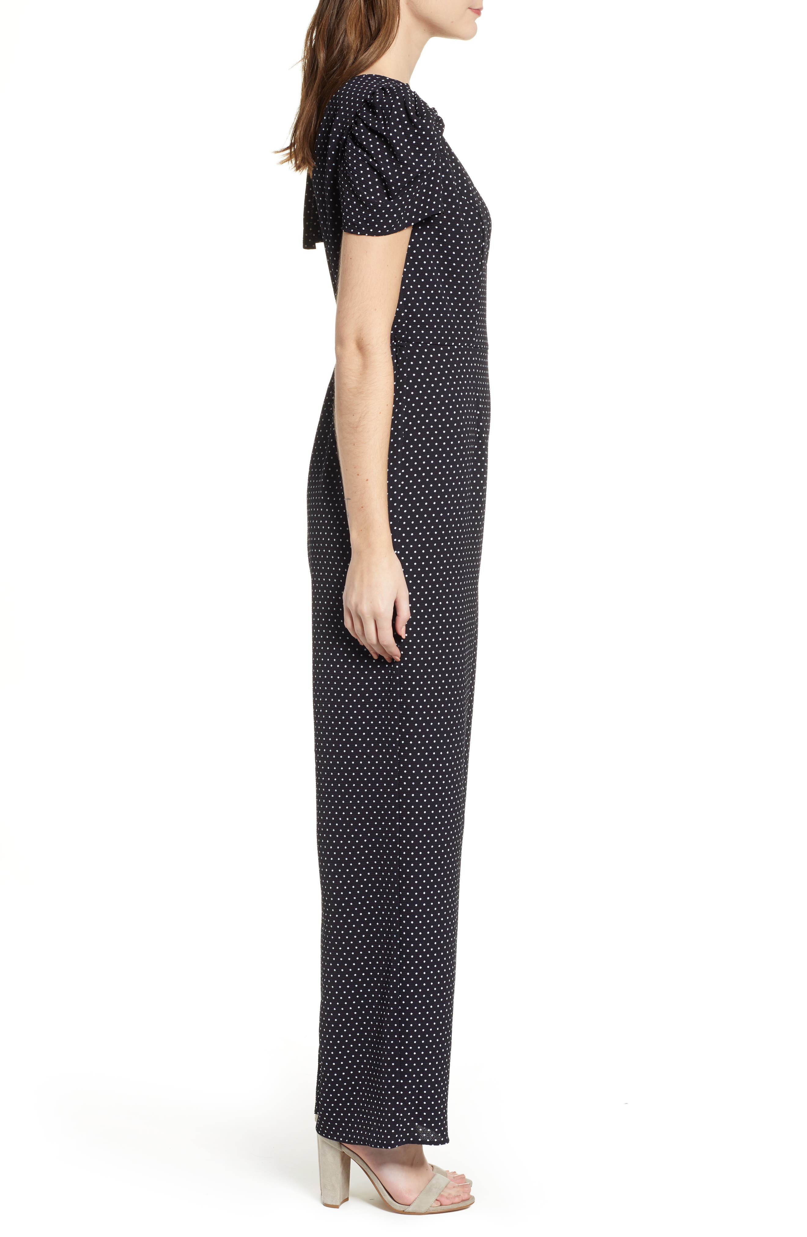 ROW A, Puff Sleeve Jumpsuit, Alternate thumbnail 4, color, 410