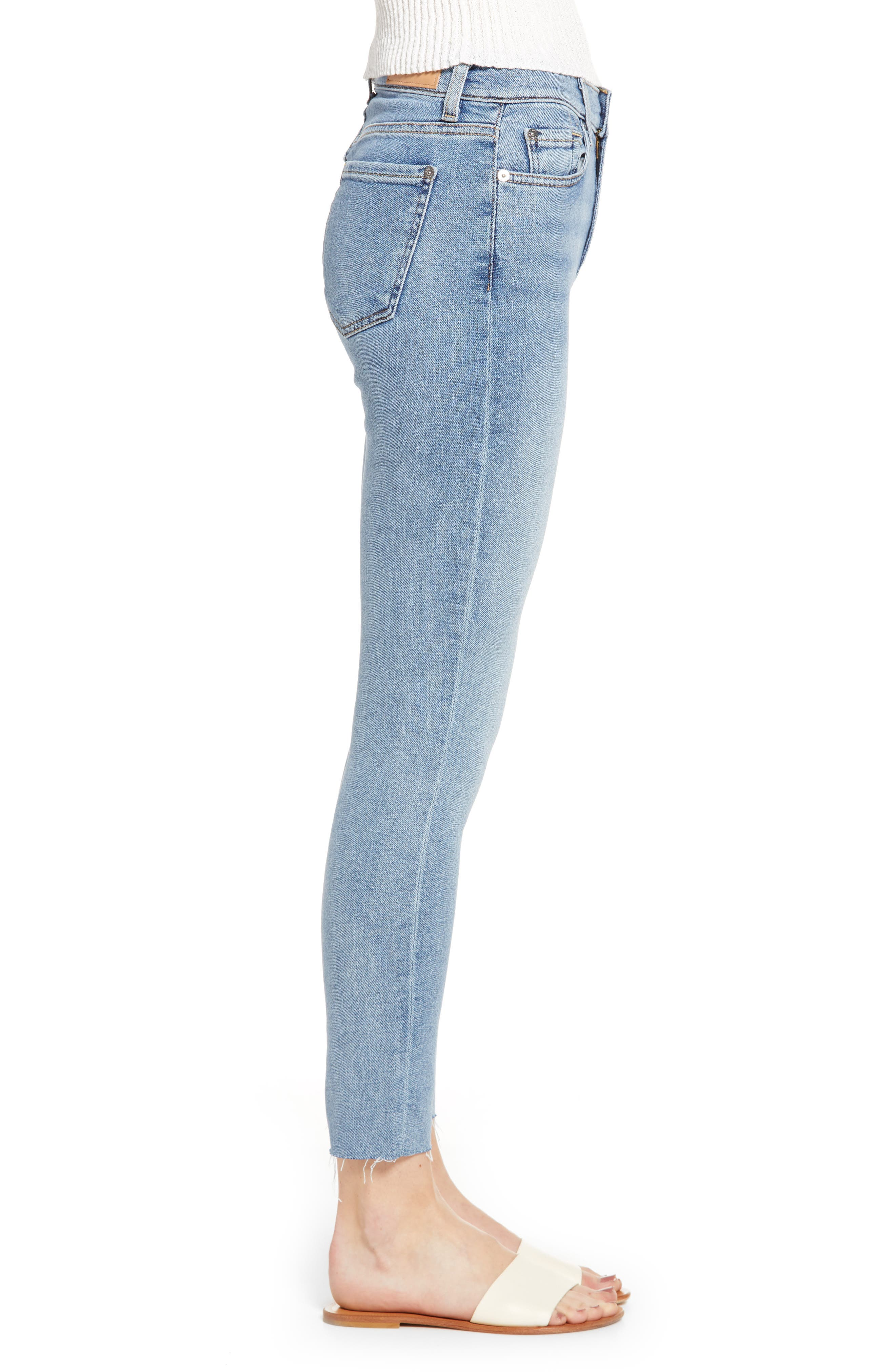 7 FOR ALL MANKIND<SUP>®</SUP>, High Waist Ankle Skinny Jeans, Alternate thumbnail 4, color, LUXE VINTAGE FLORA