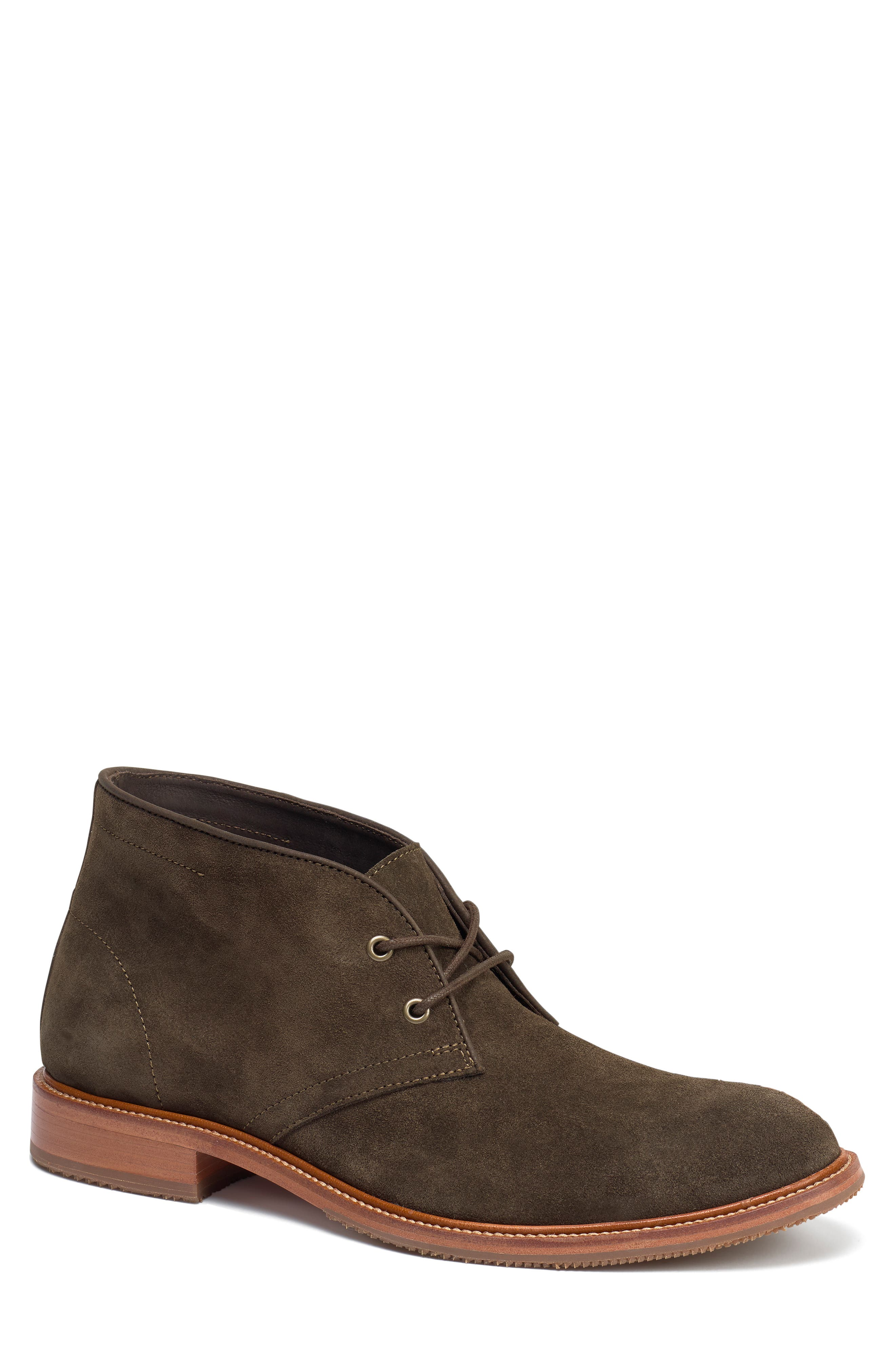 TRASK, Landers Chukka Boot, Main thumbnail 1, color, OLIVE SUEDE
