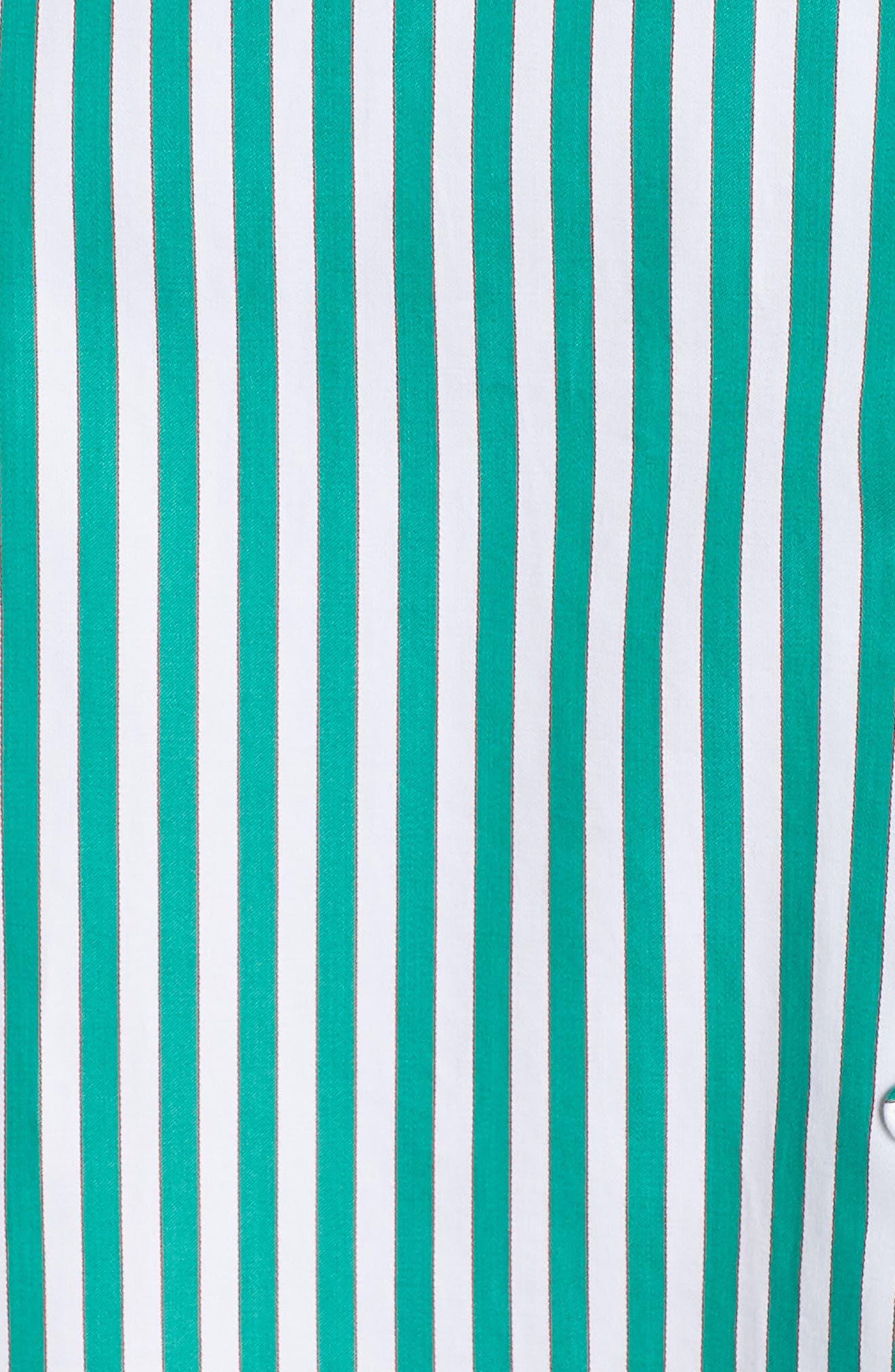 BB DAKOTA, Peppermint Stripe Dress, Alternate thumbnail 6, color, MISTY JADE