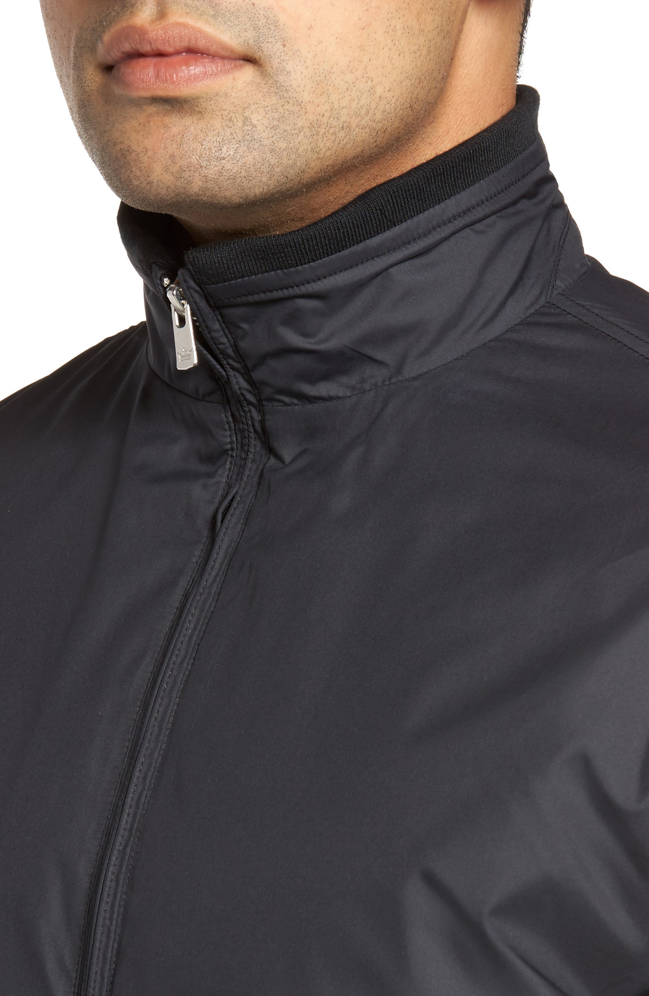 PETER MILLAR, Zip Jacket, Alternate thumbnail 5, color, BLACK