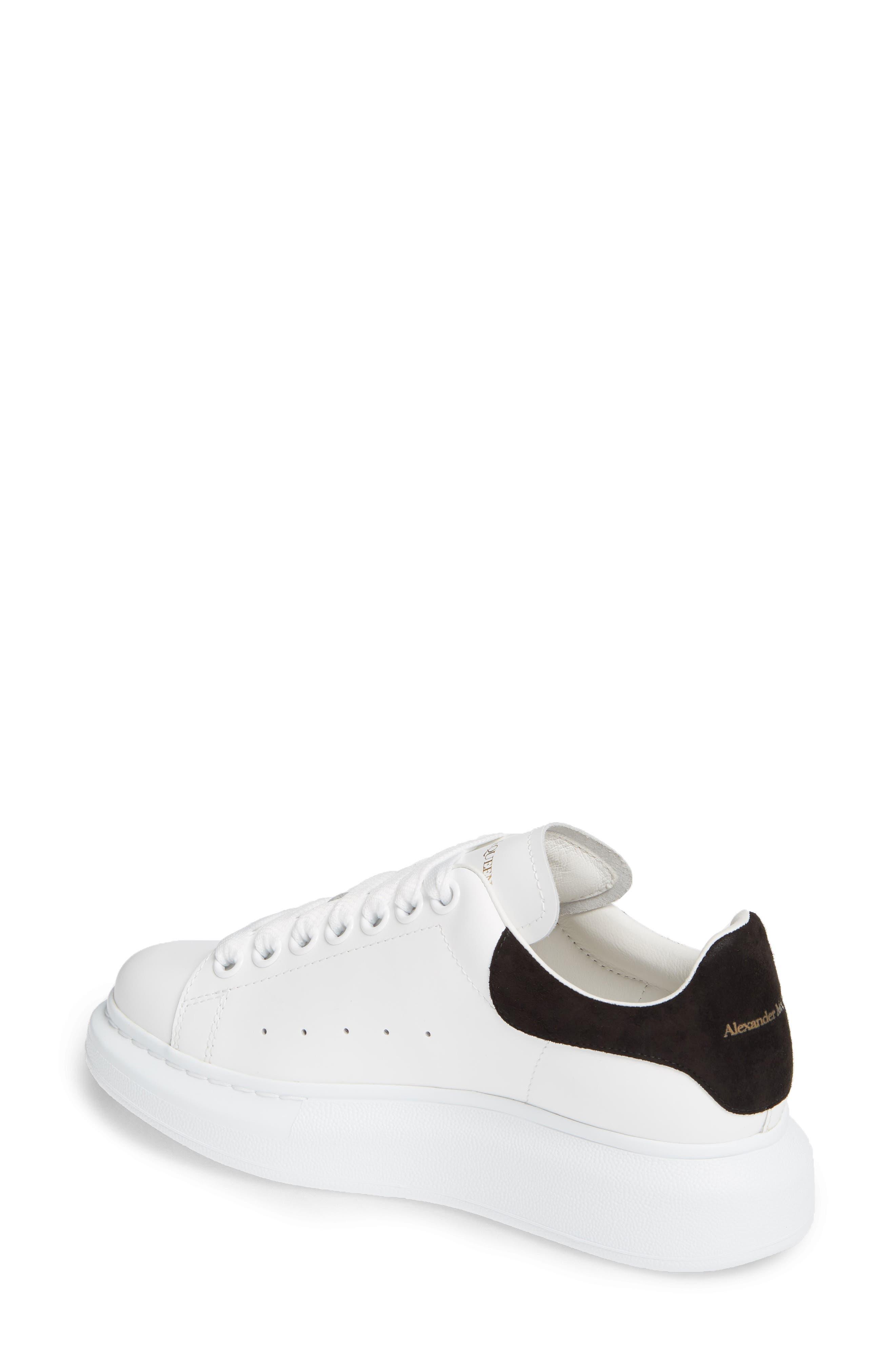 ALEXANDER MCQUEEN, Sneaker, Alternate thumbnail 2, color, WHITE BLACK